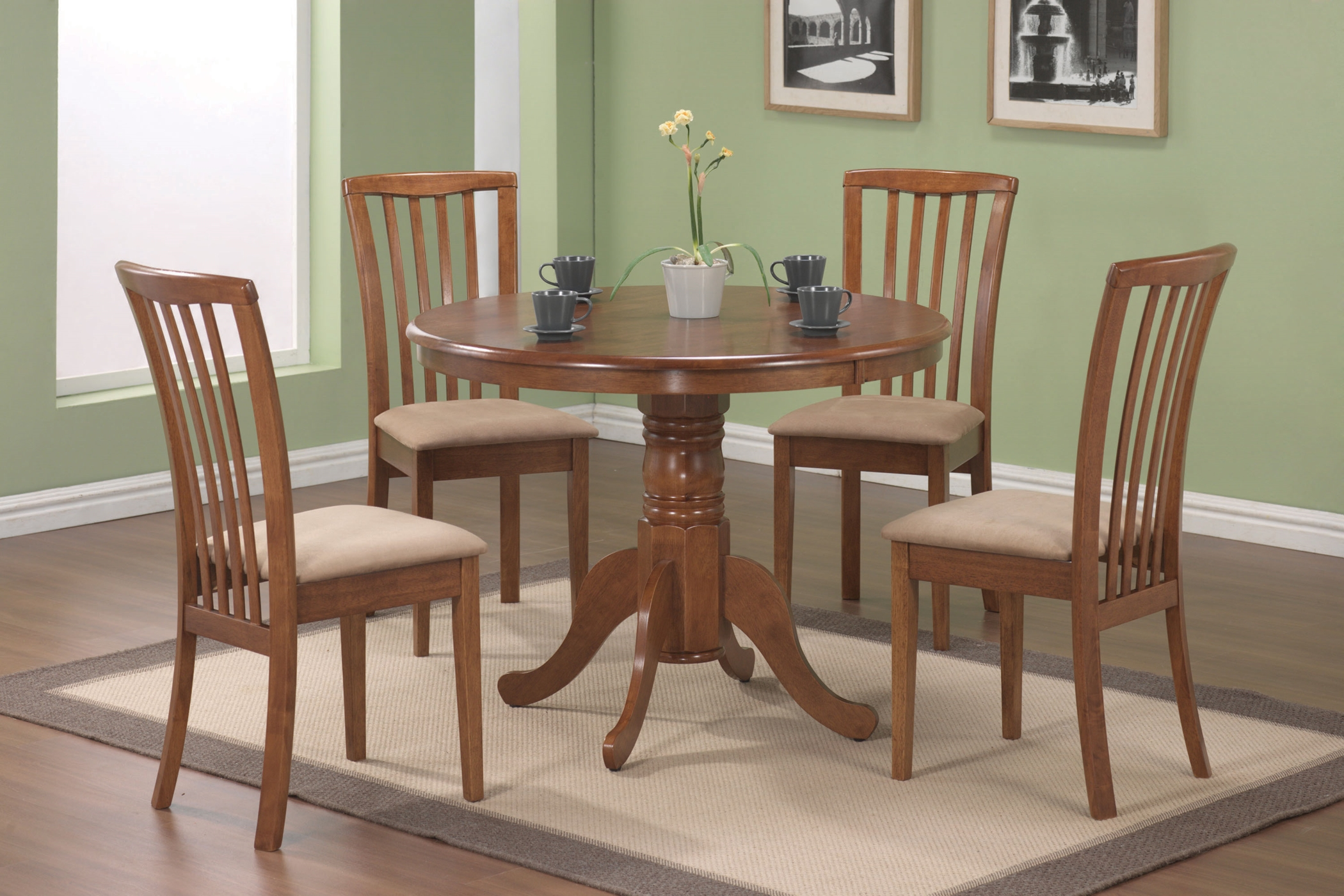 Brannan Casual Oak Dining 5 Pc. Set