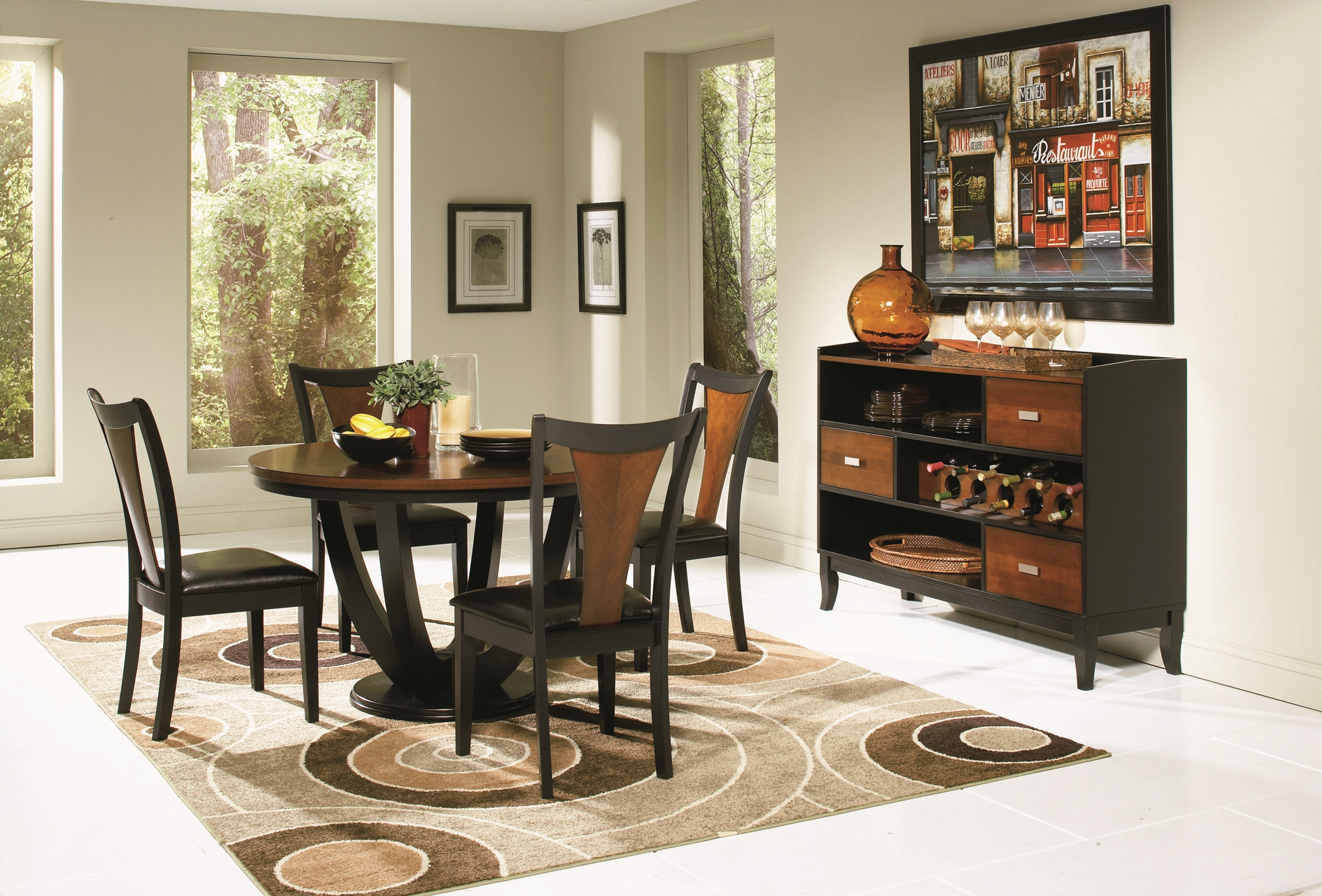 Boyer Amber and Black 5 Pc. Set