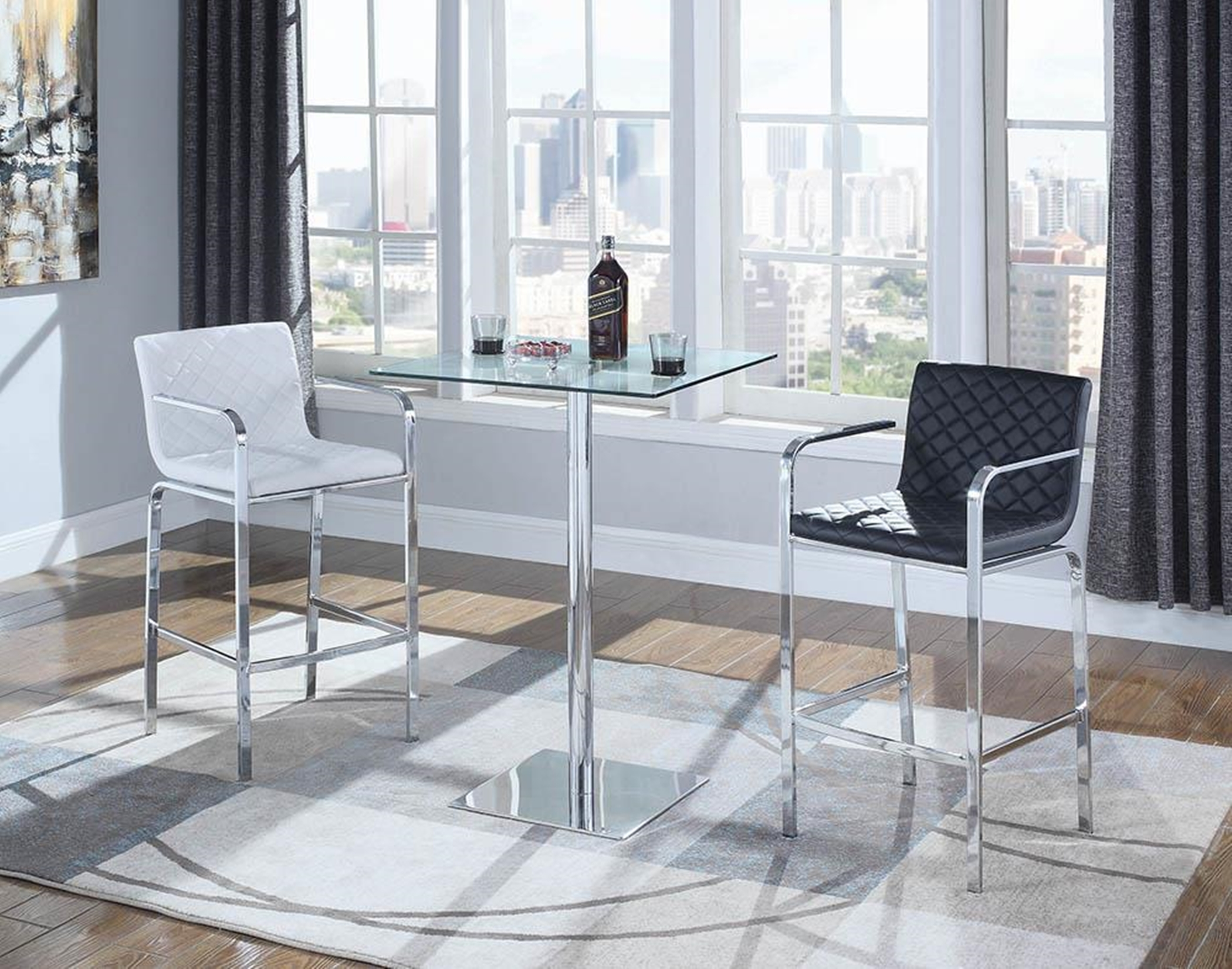 Contemporary Transparent Bar Table
