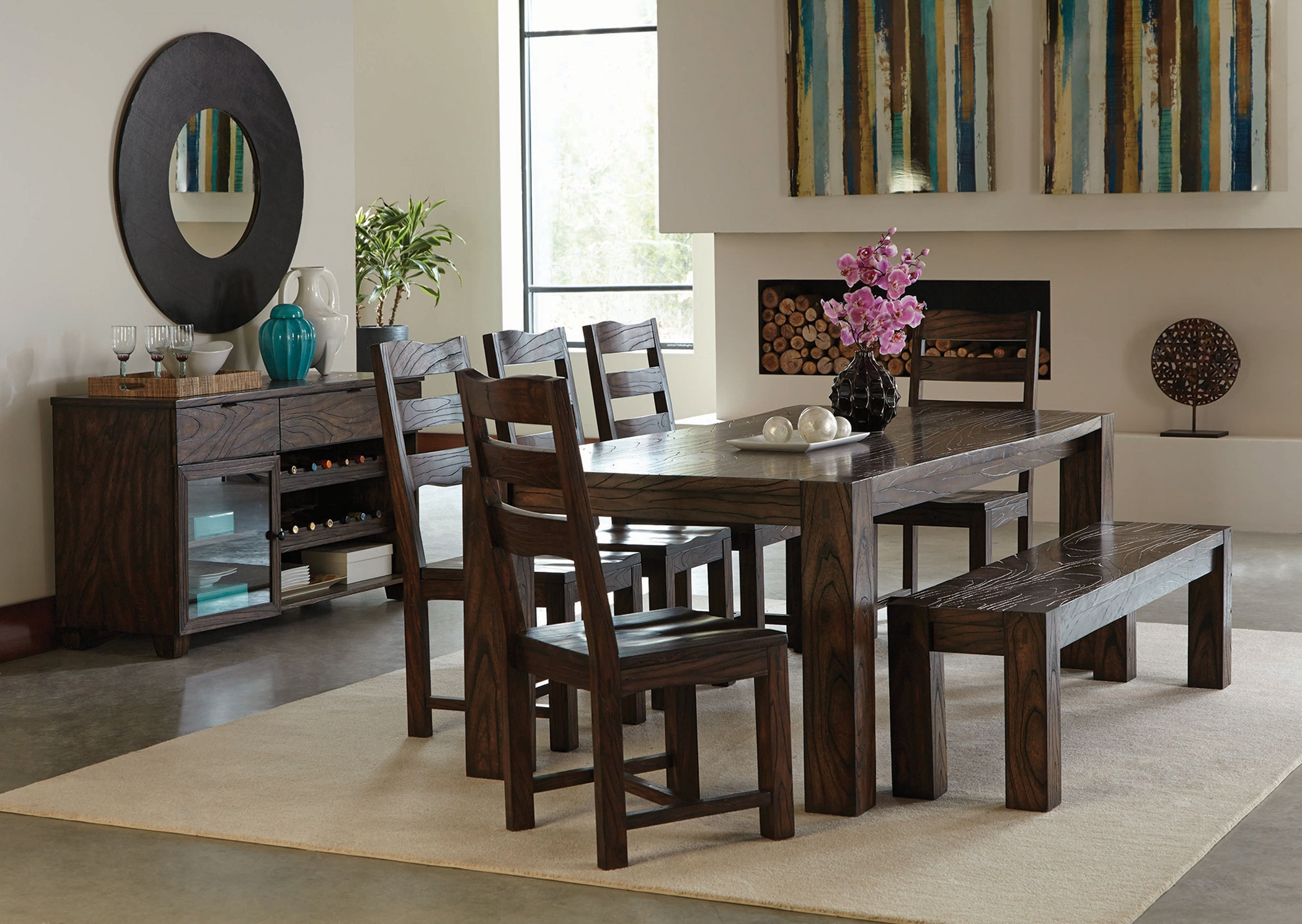 Calabasas Rustic Dark Brown 5 Pc. Set