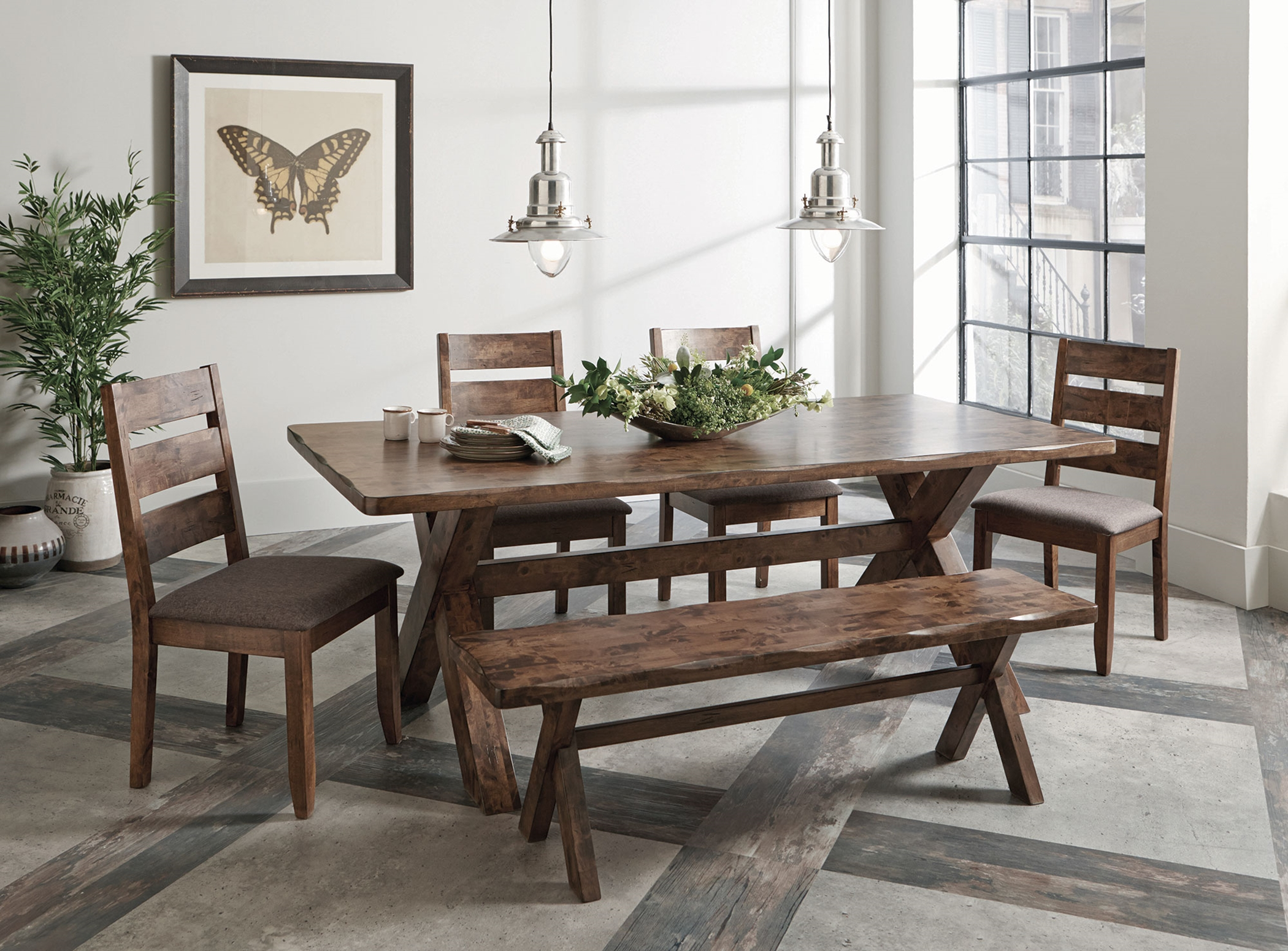 Alston Rustic Wavy Edge 5 Pc. Set