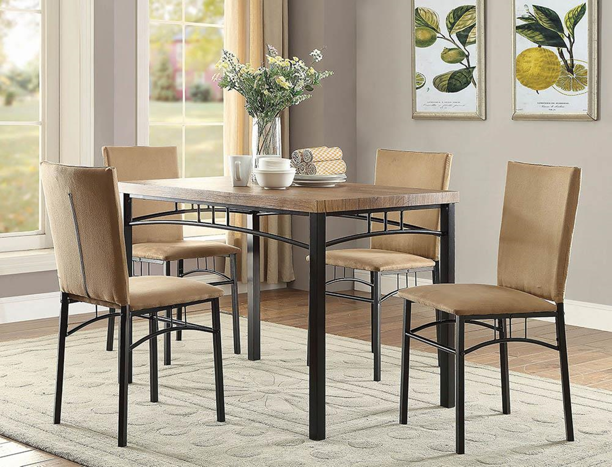 Contemporary 5-Pc. Metal Dinette Set