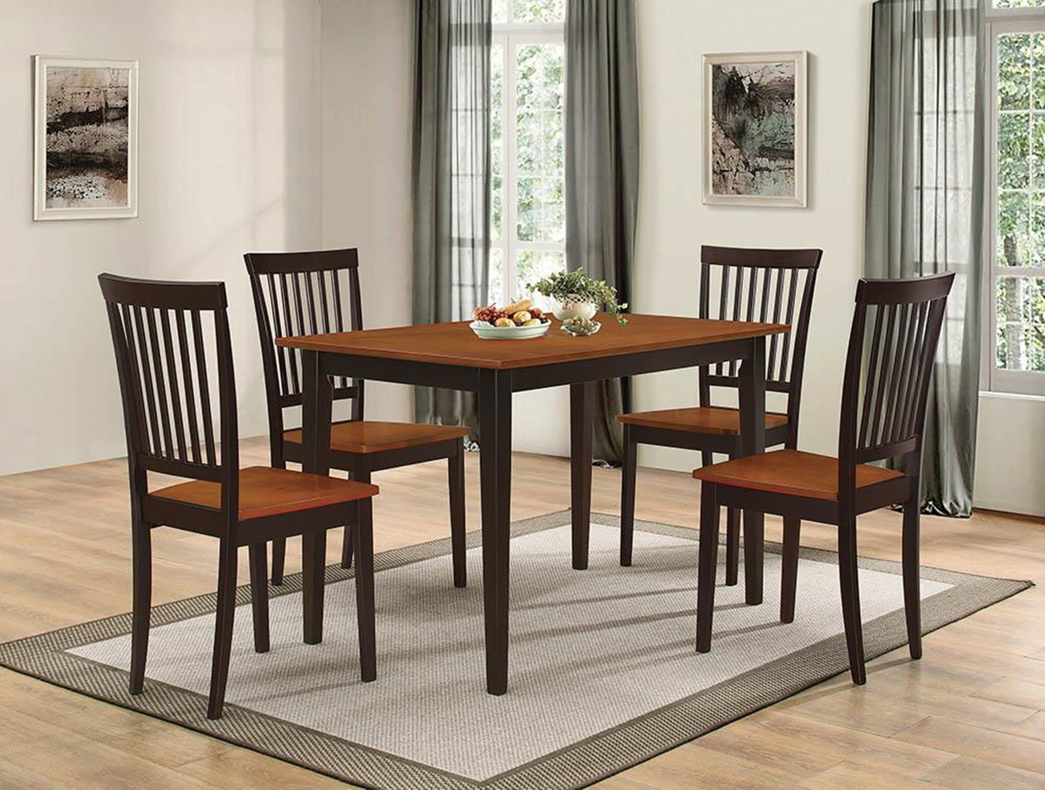 Oakdale Casual Tobacco 5-Pc. Dinette Set