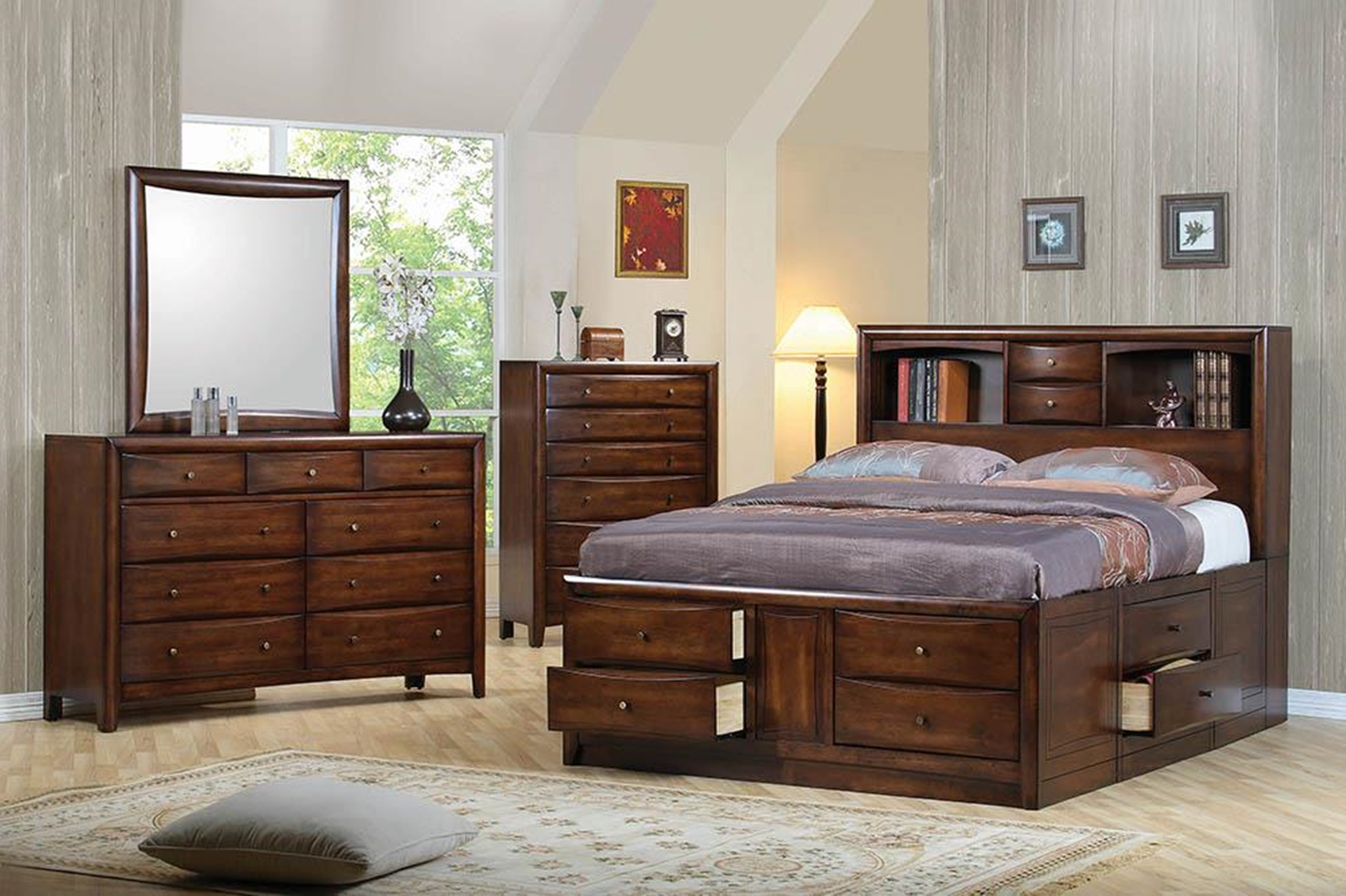 Hillary E. King Storage Bed