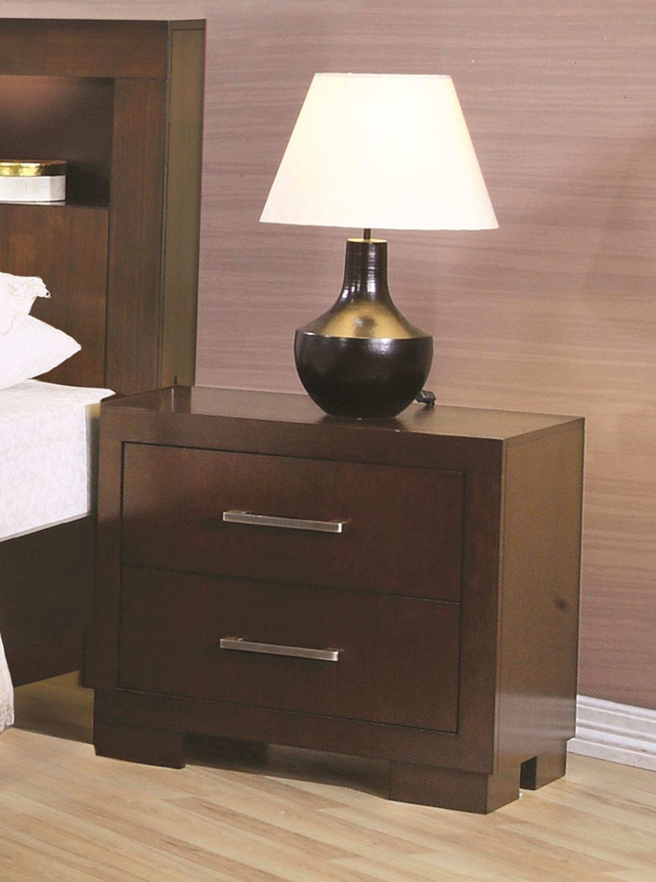 Jessica Capp. Two-Drawer Nightstand