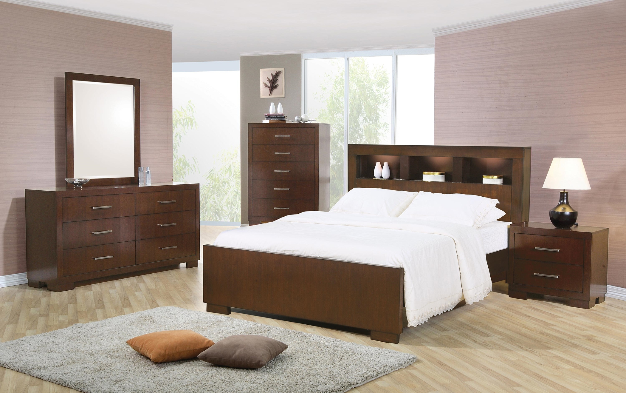 Jessica Dark Capp. King 5-Pc. With Storage Bed