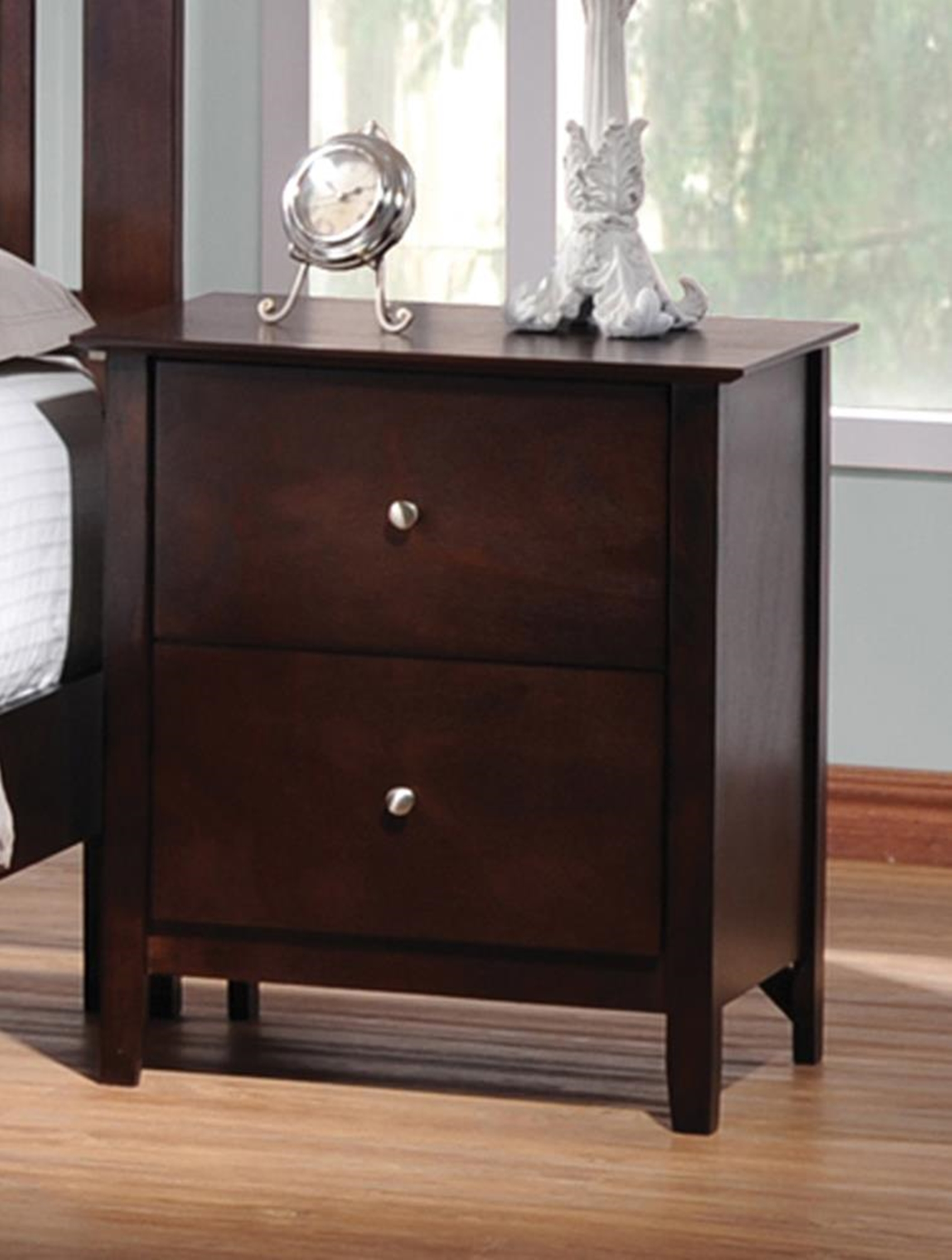 Tia Capp. Two-Drawer Nightstand