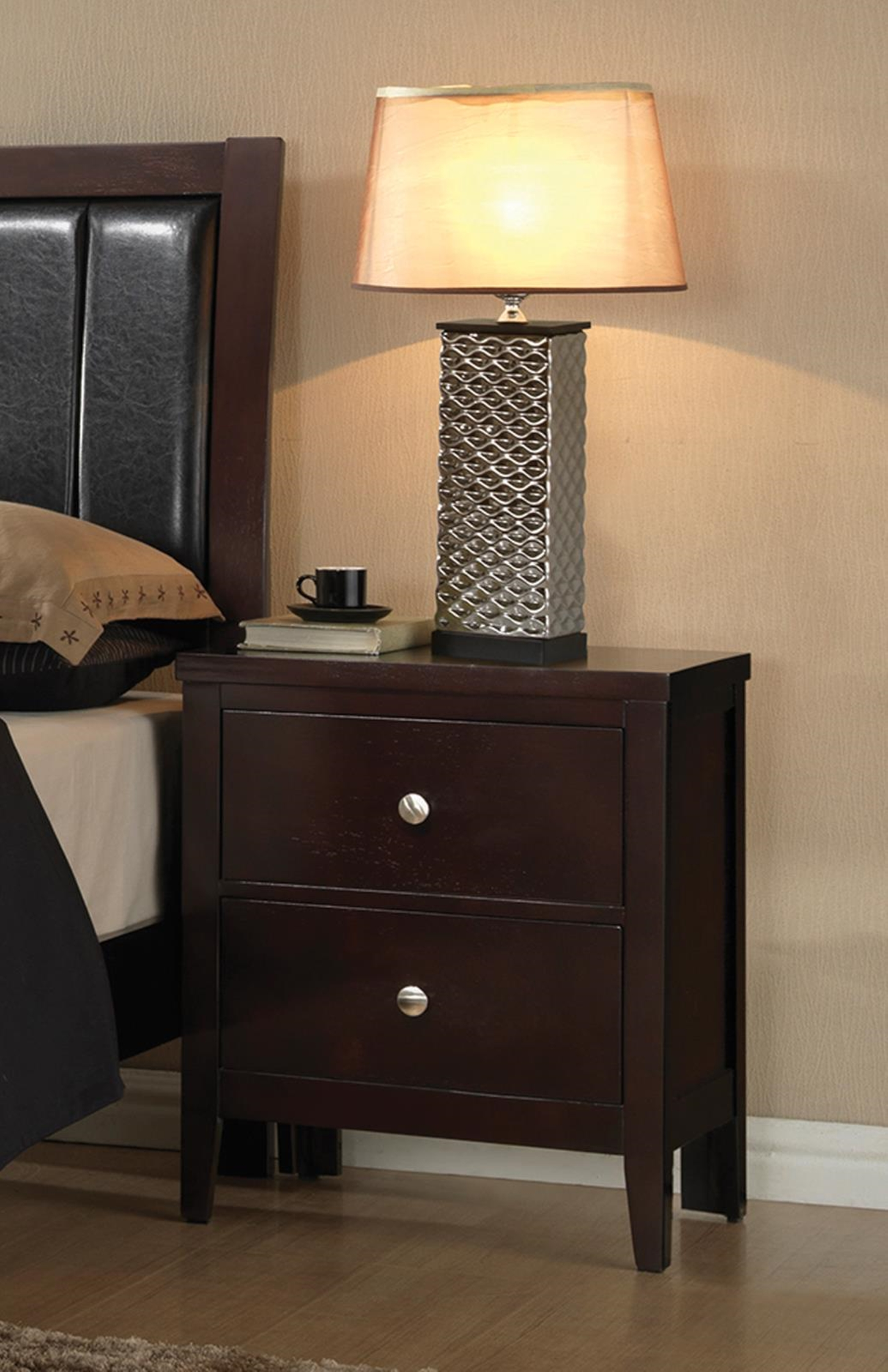 Carlton Capp. Two-Drawer Nightstand