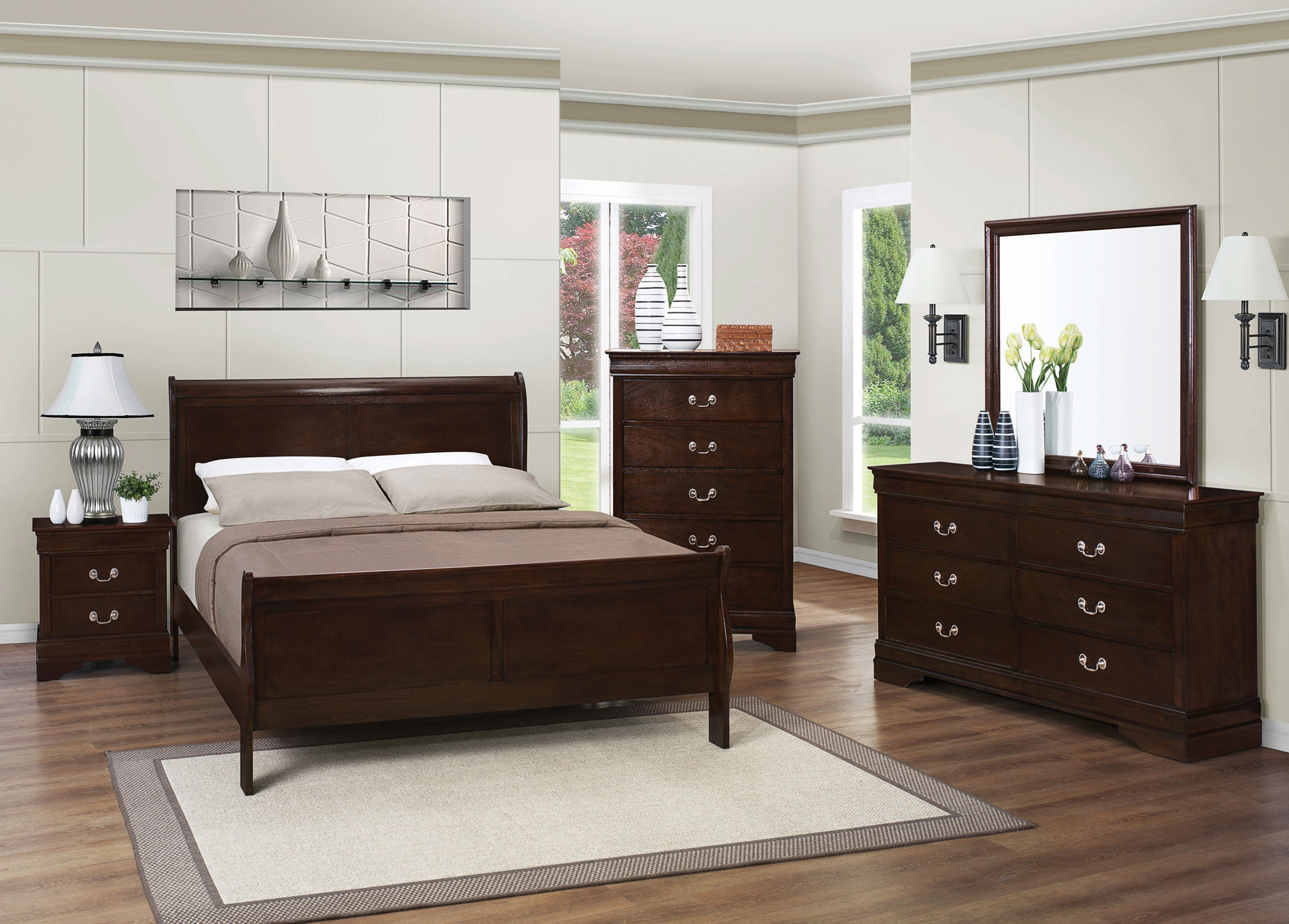Louis Philippe Warm Brown Full 5-Pc.