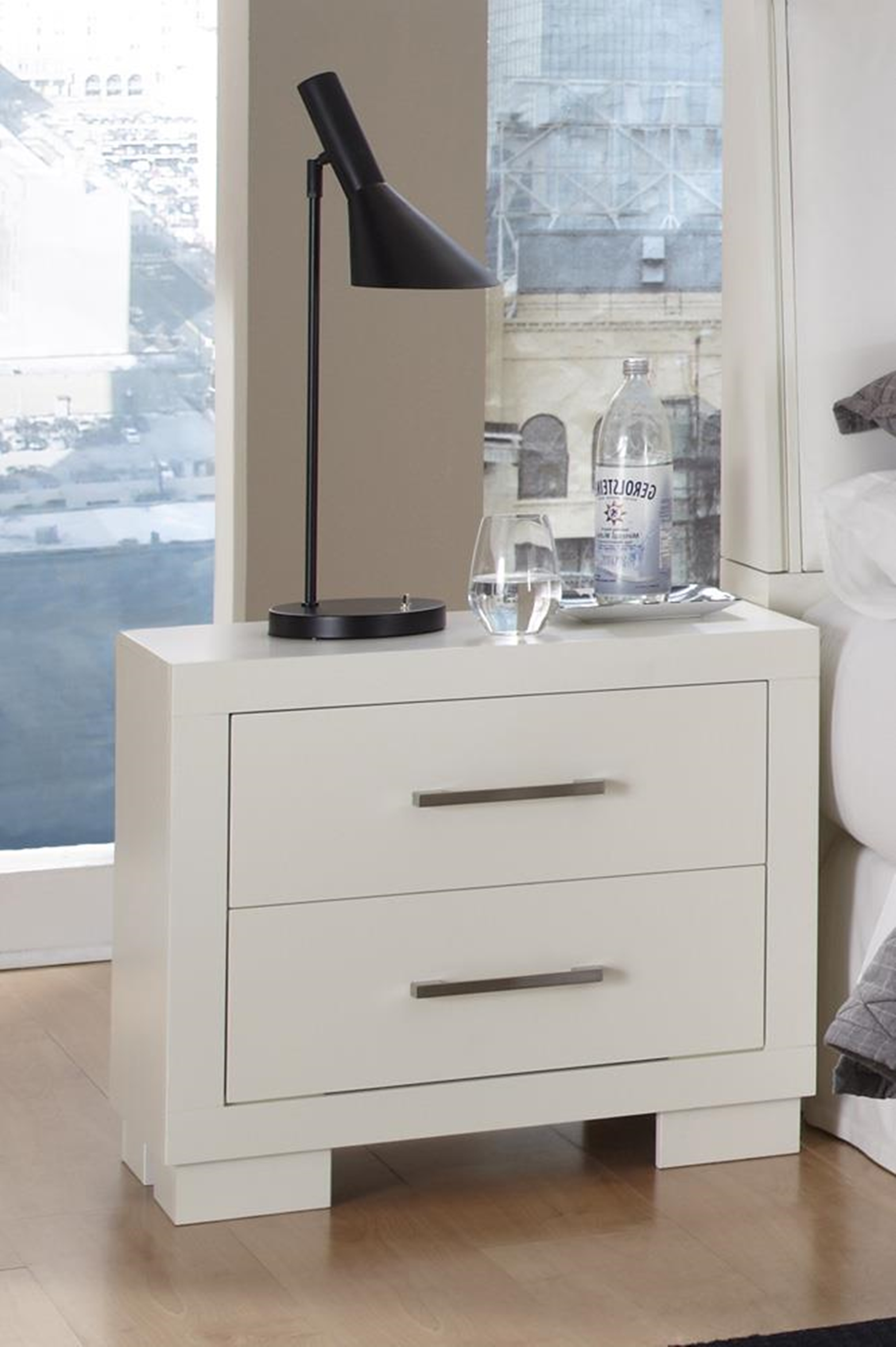 Jessica Two-Drawer Nightstand