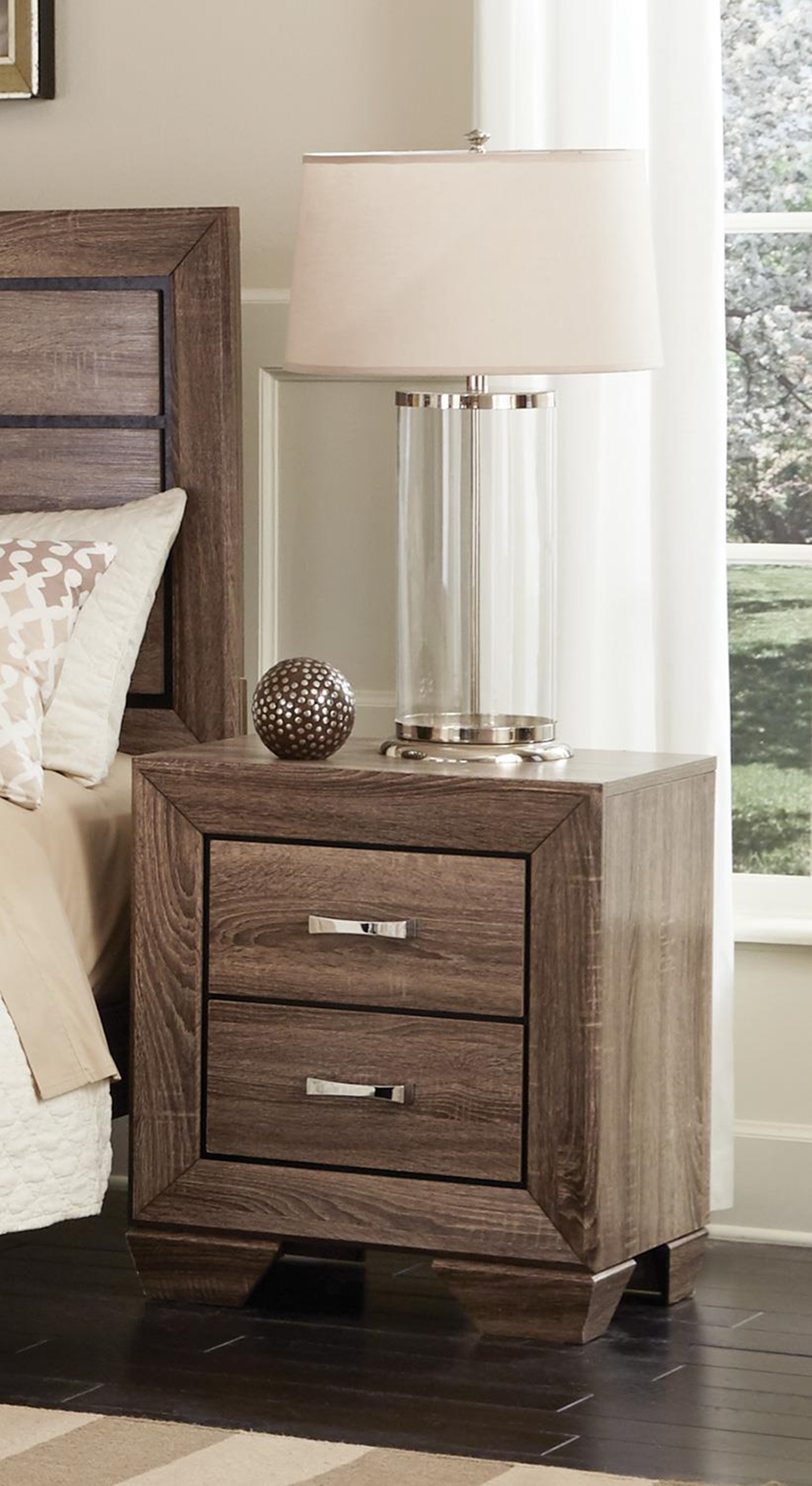 Kauffman Two-Drawer Nightstand