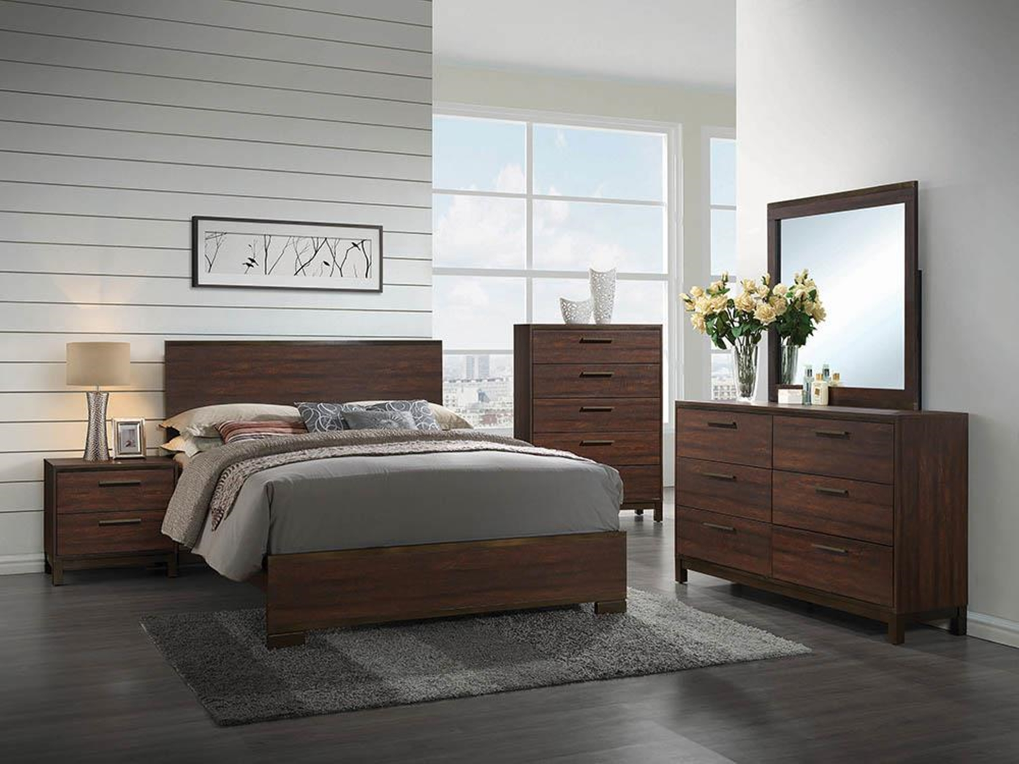 Edmonton Rustic Tobacco Queen Bed