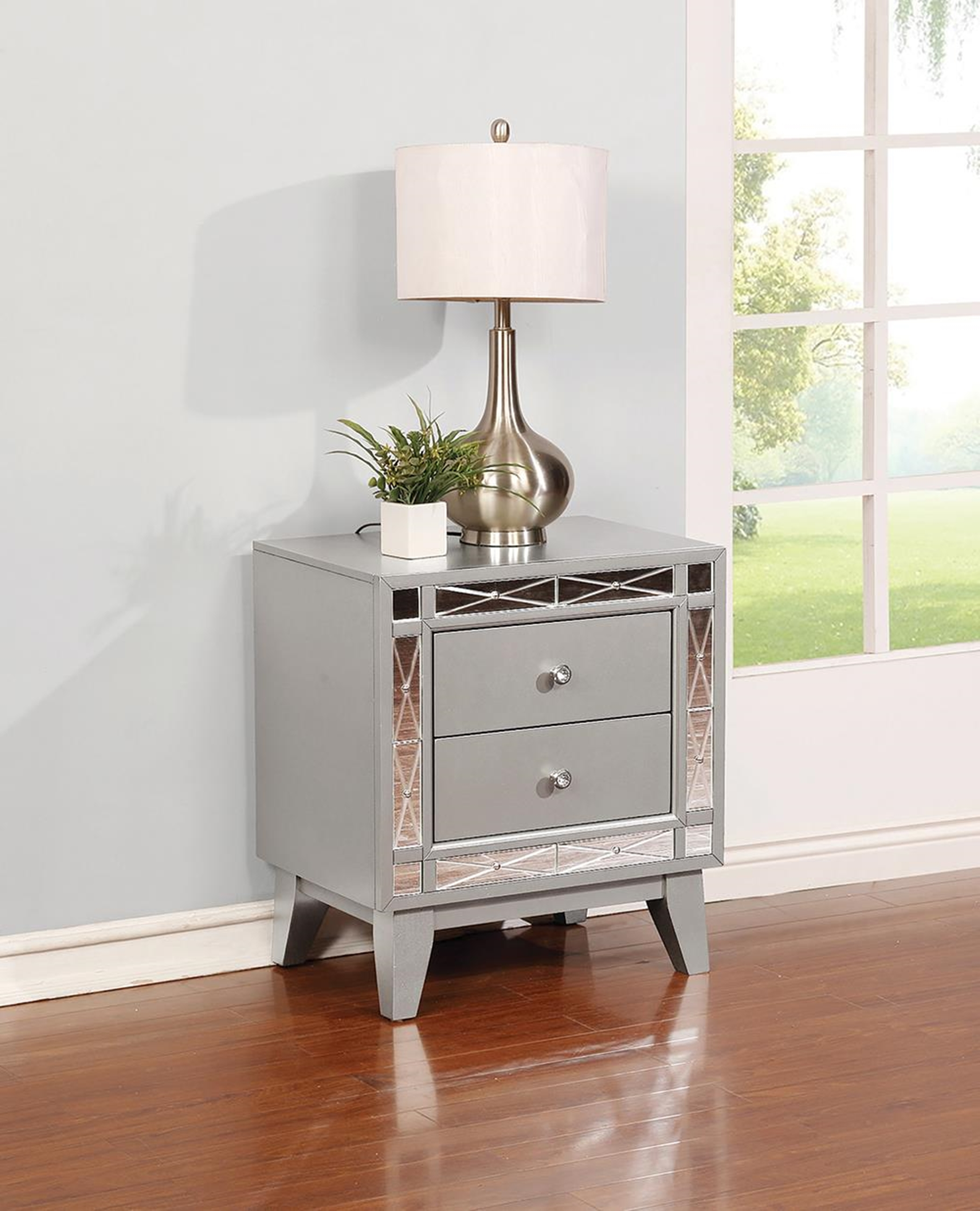 Leighton Contemporary Two-Drawer Nightstand
