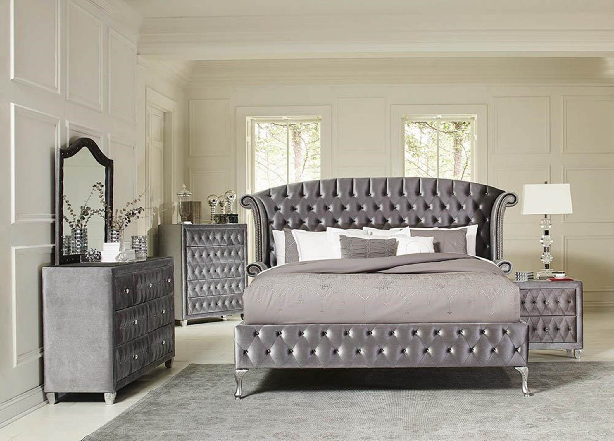 Deanna Bedroom Metallic Queen Bed