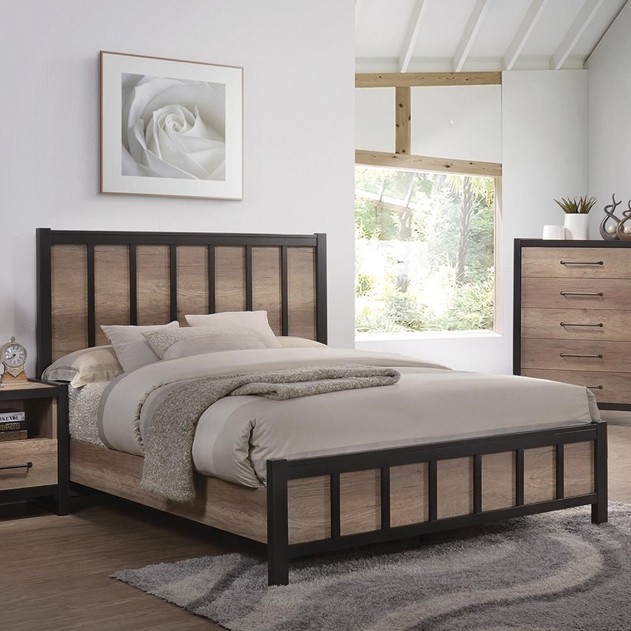Edgewater Weathered Oak Twin Bed