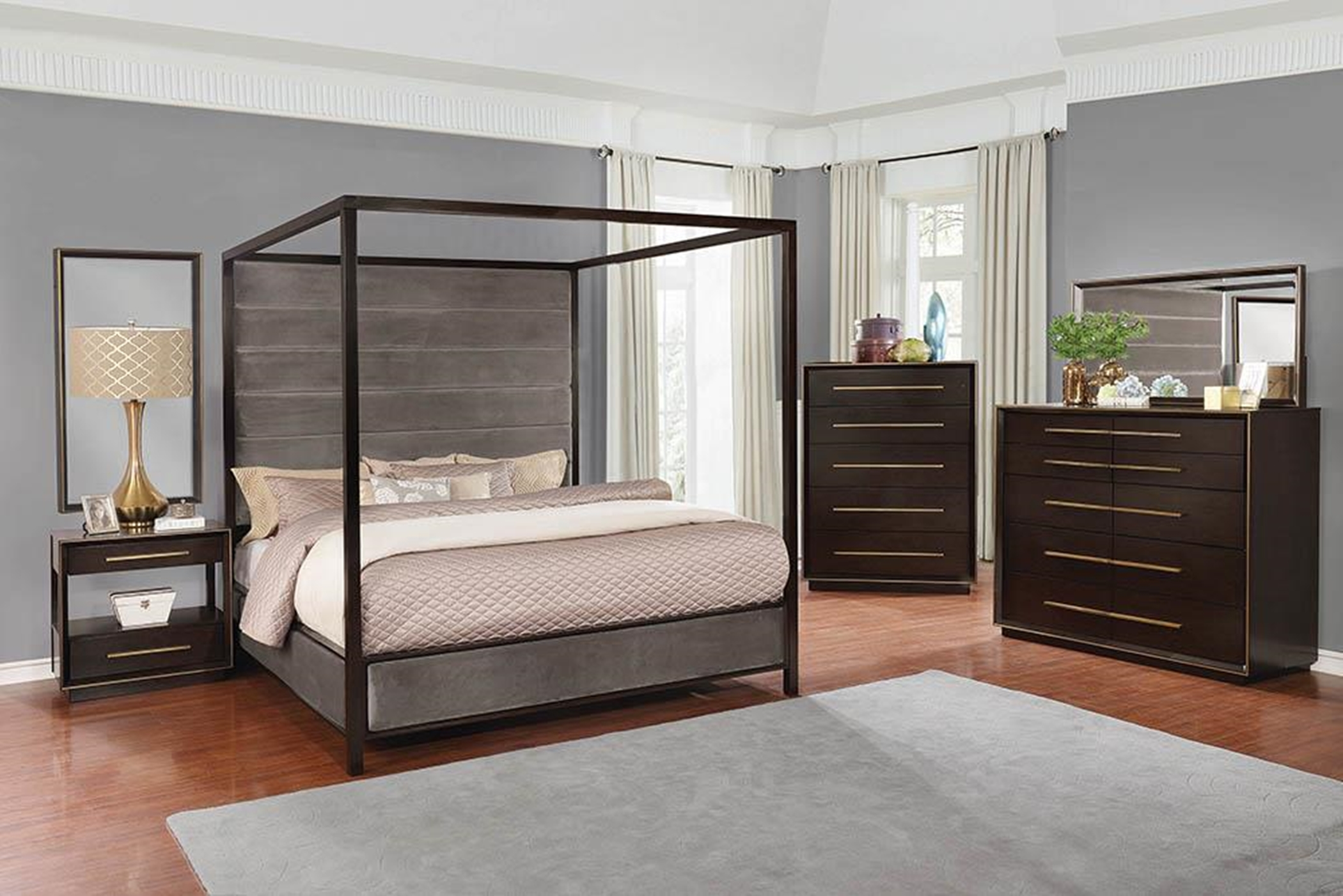 Smoked Peppercorn Queen Bed