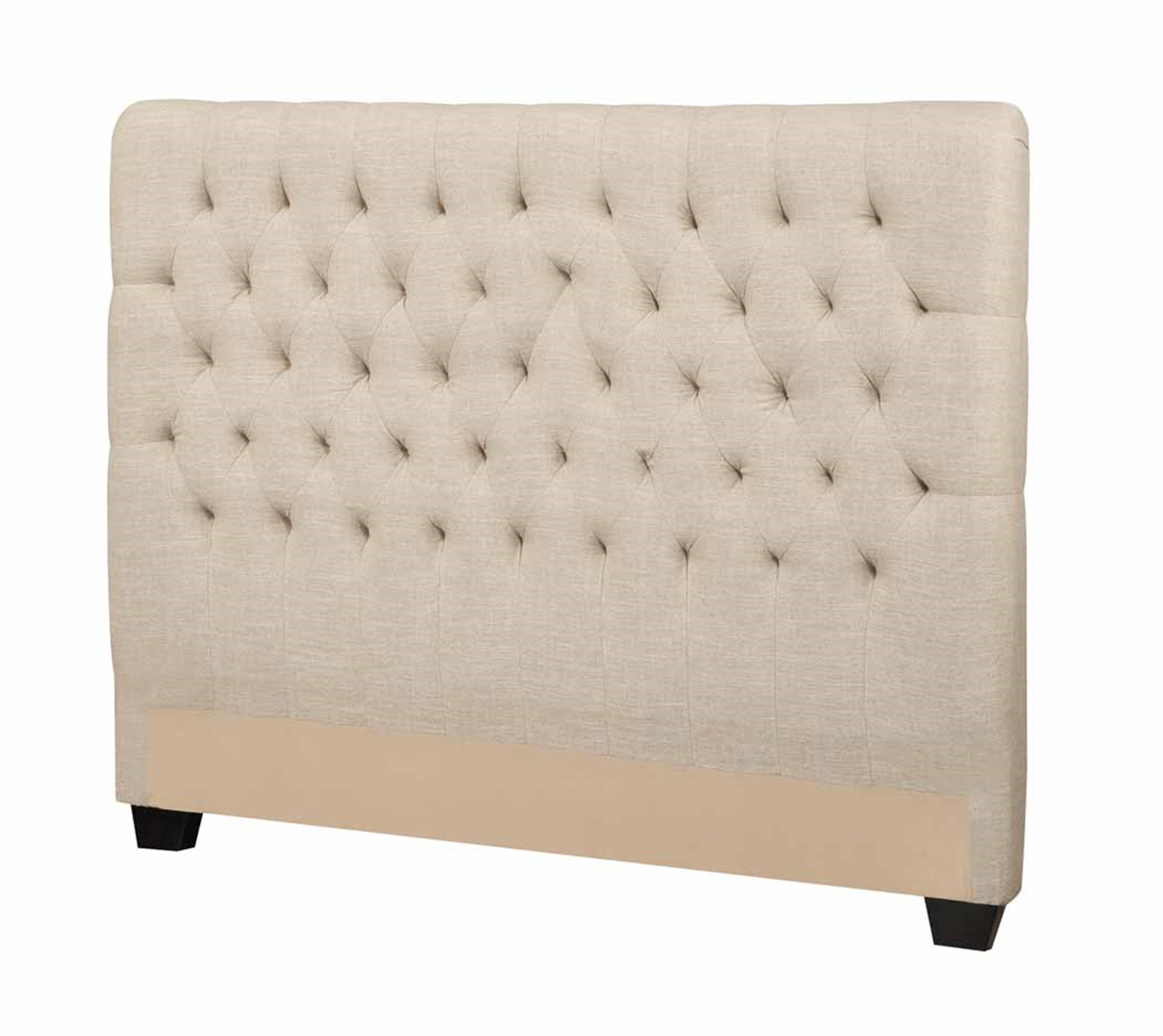 Chloe Oatmeal Upholstered Queen Headboard