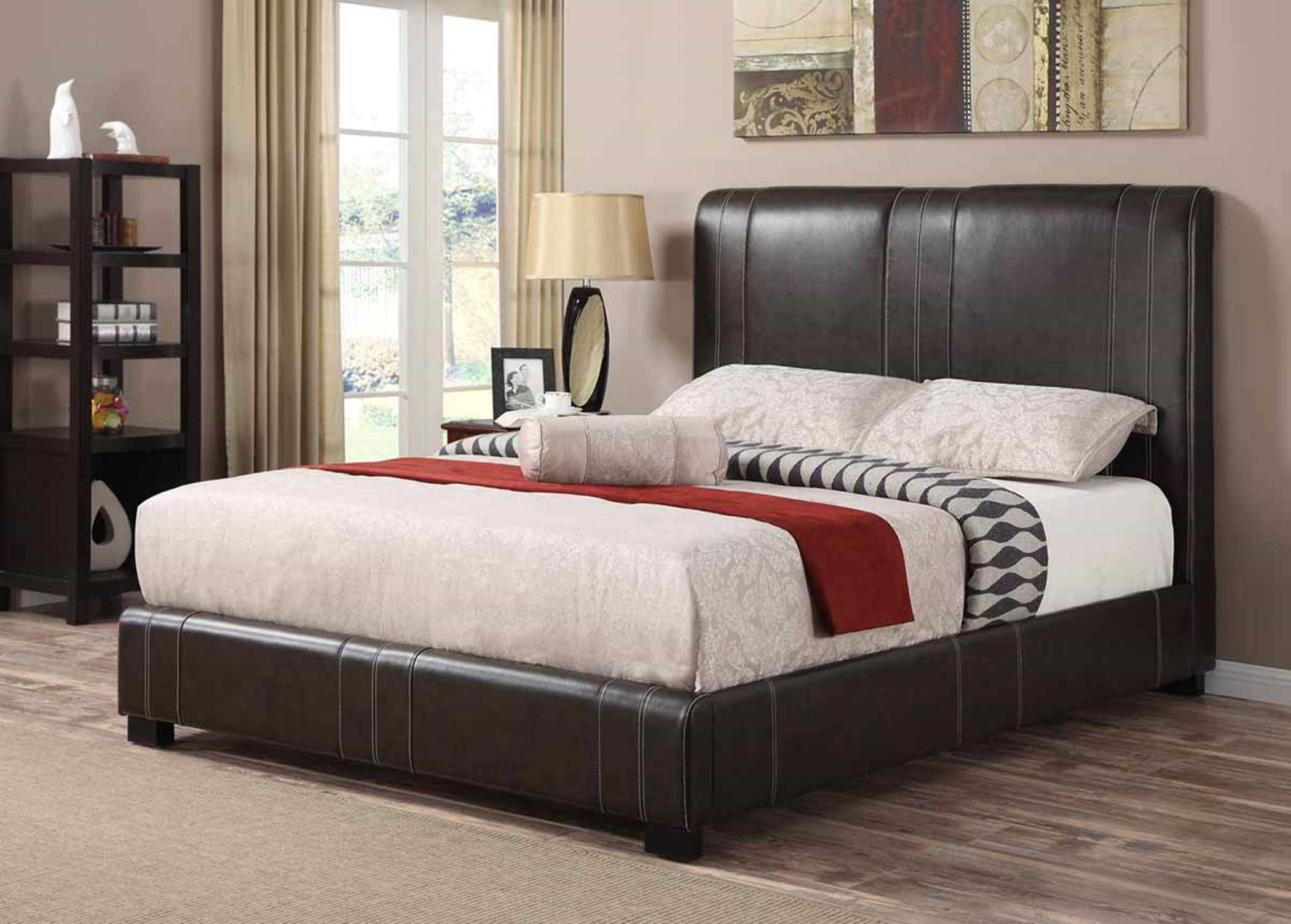 Caleb Dark Brown Cal. King Bed