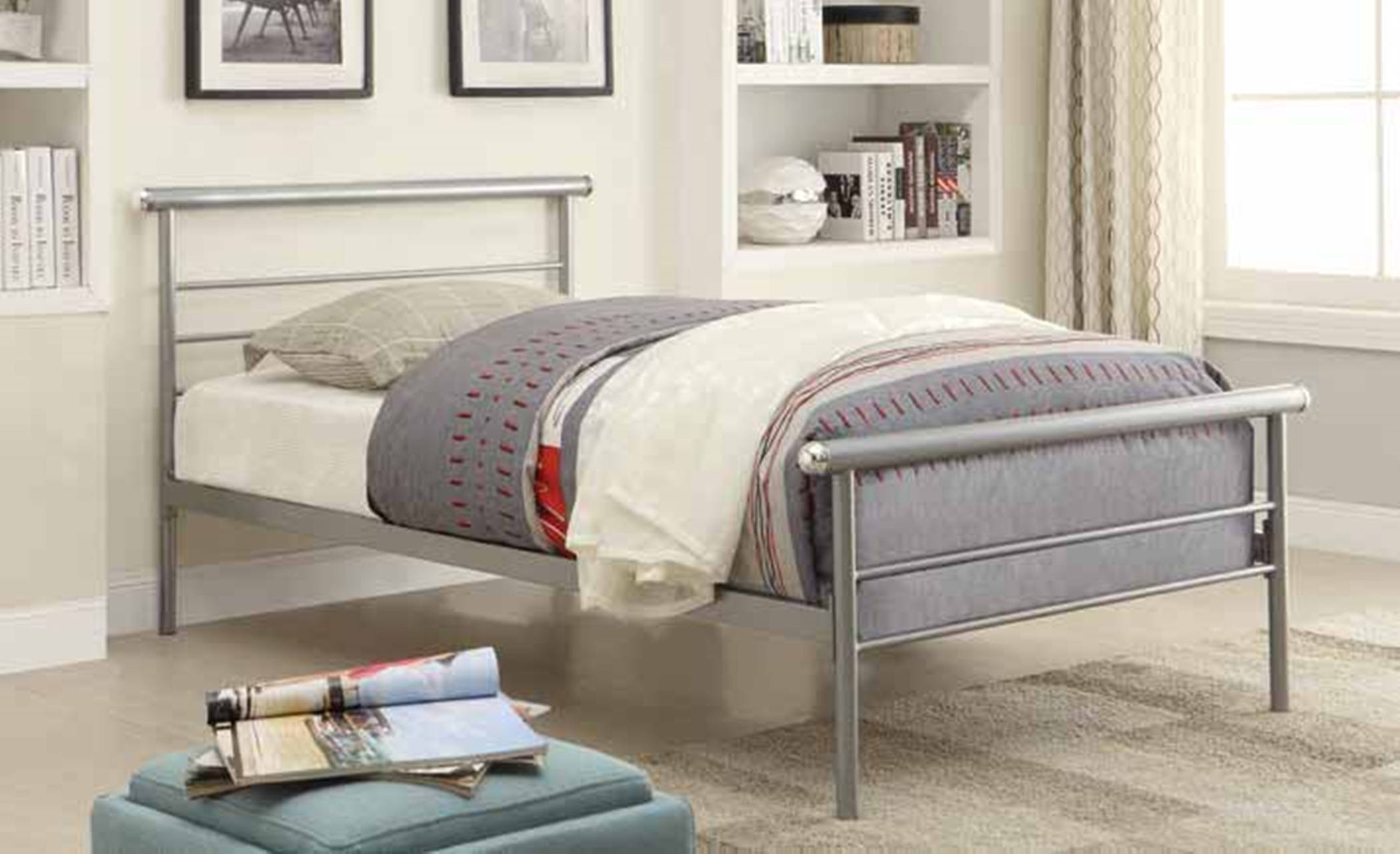 Cobalt Silver Twin Bed