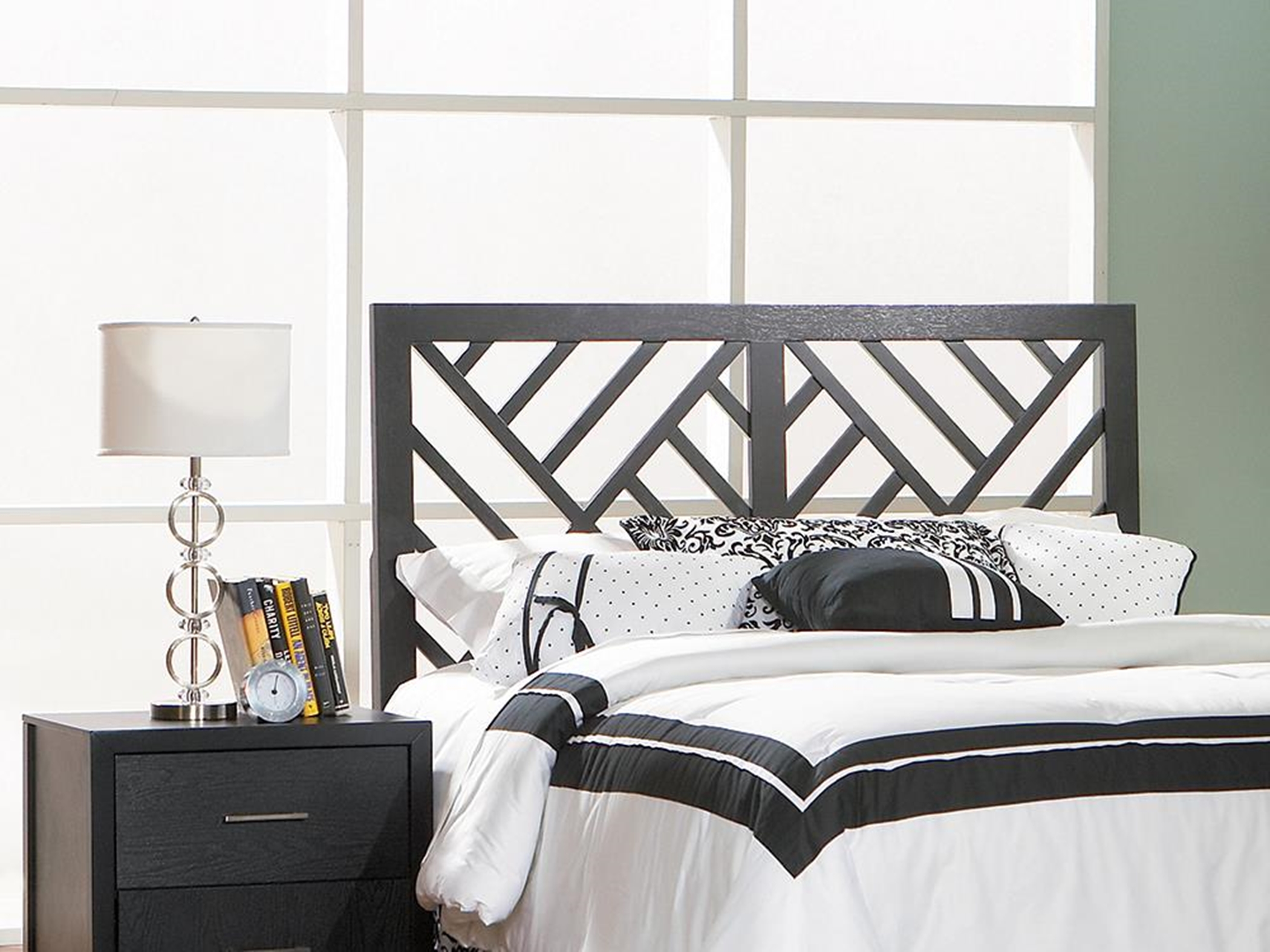 Grove Black Queen Headboard