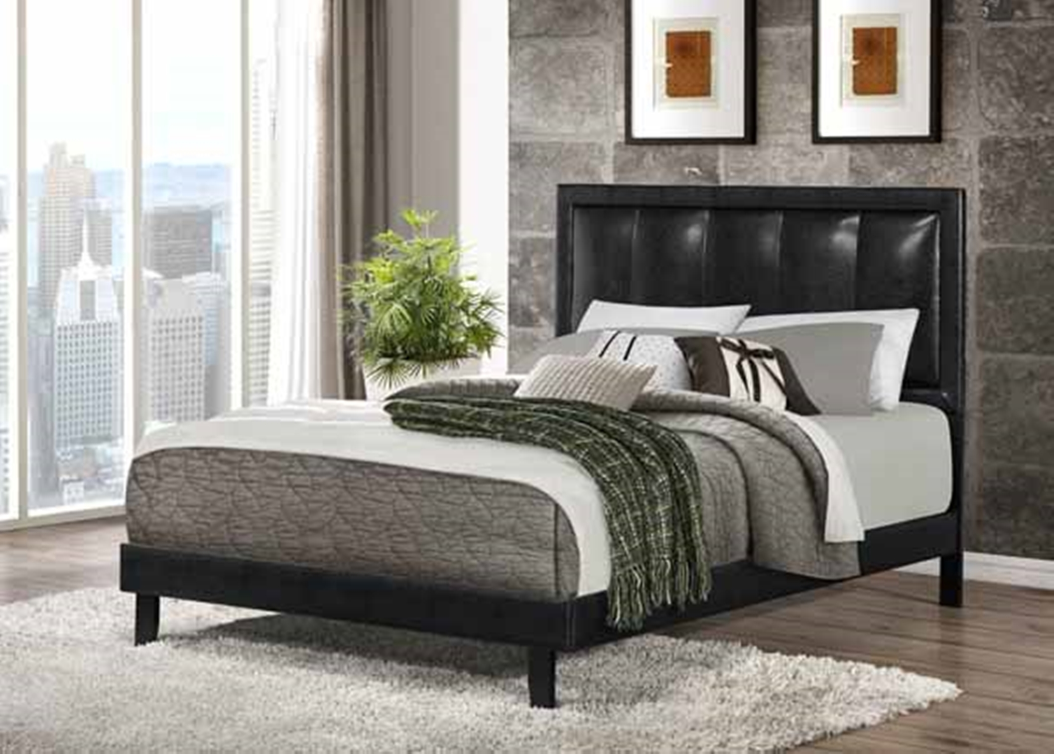 Granados Black Full Bed