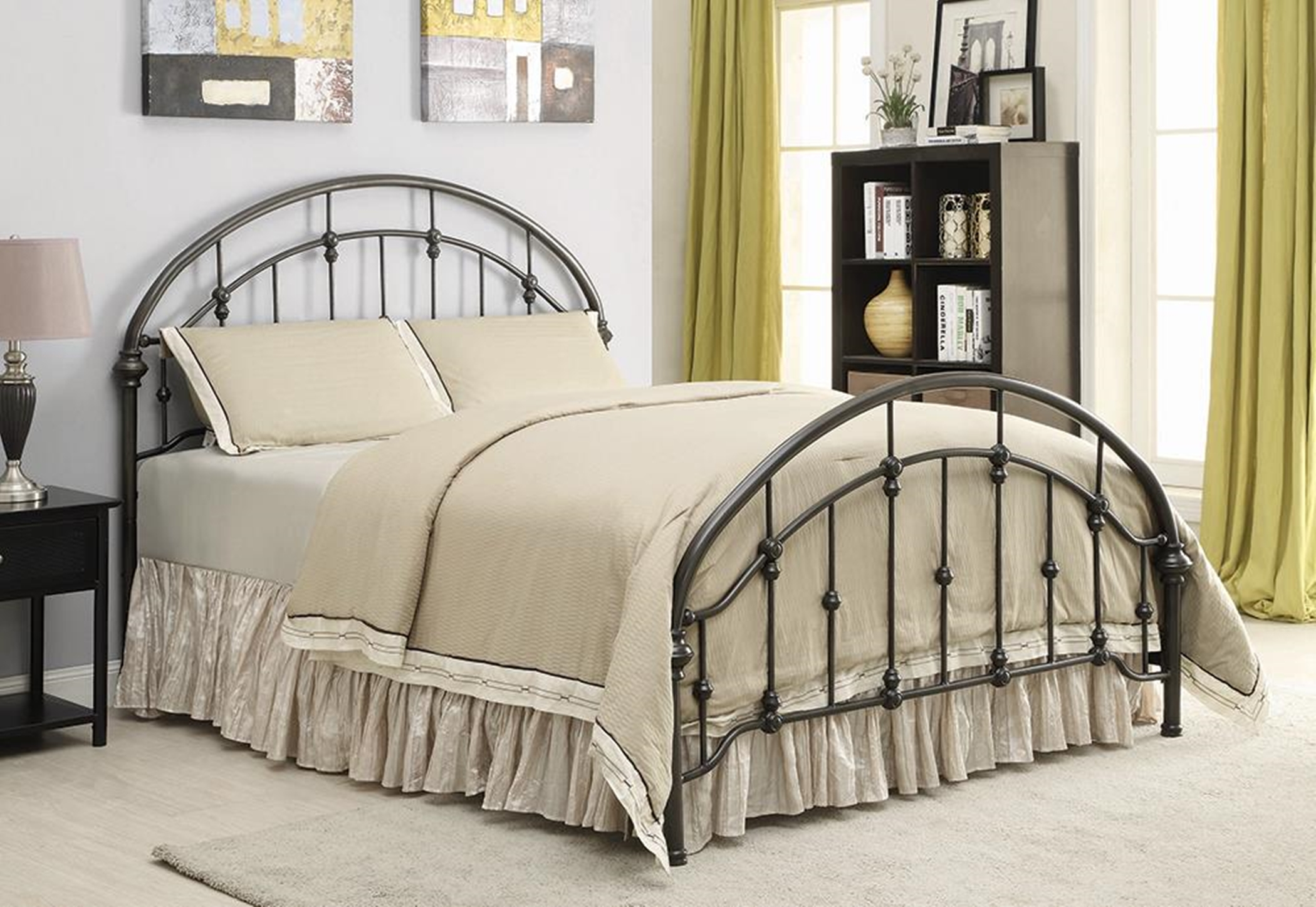 Maywood Black Metal E. King Bed
