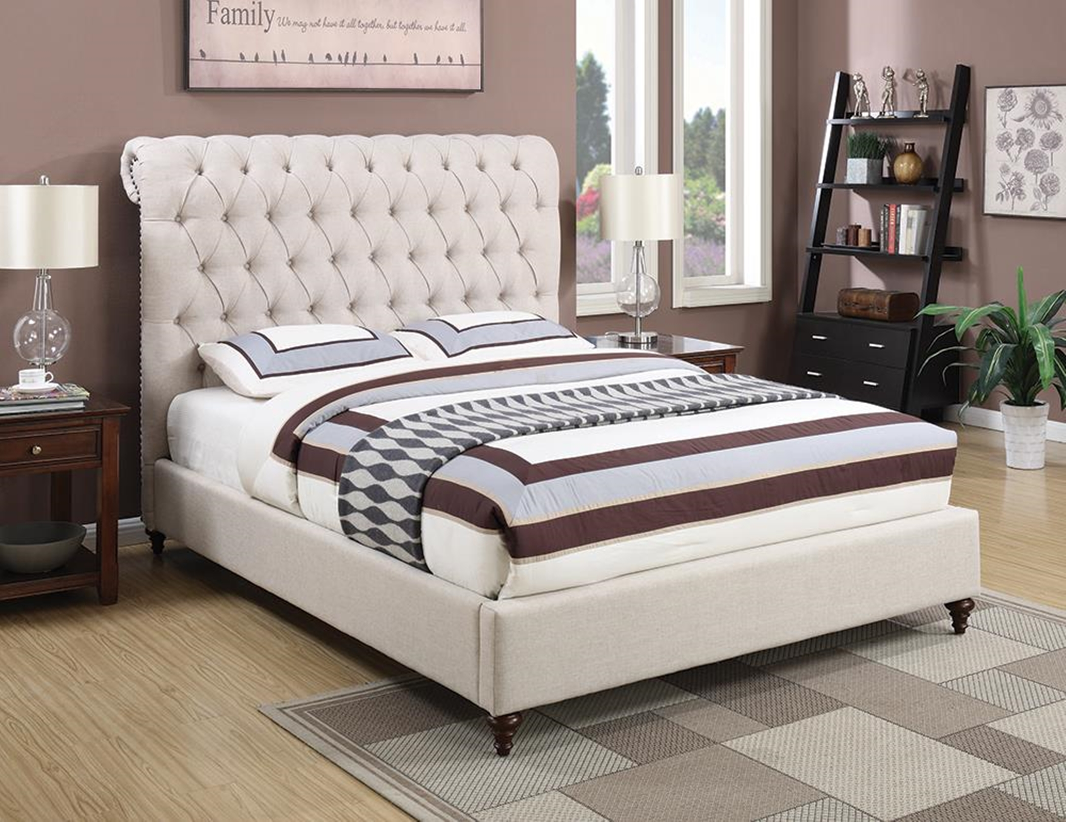 Devon Beige Queen Bed