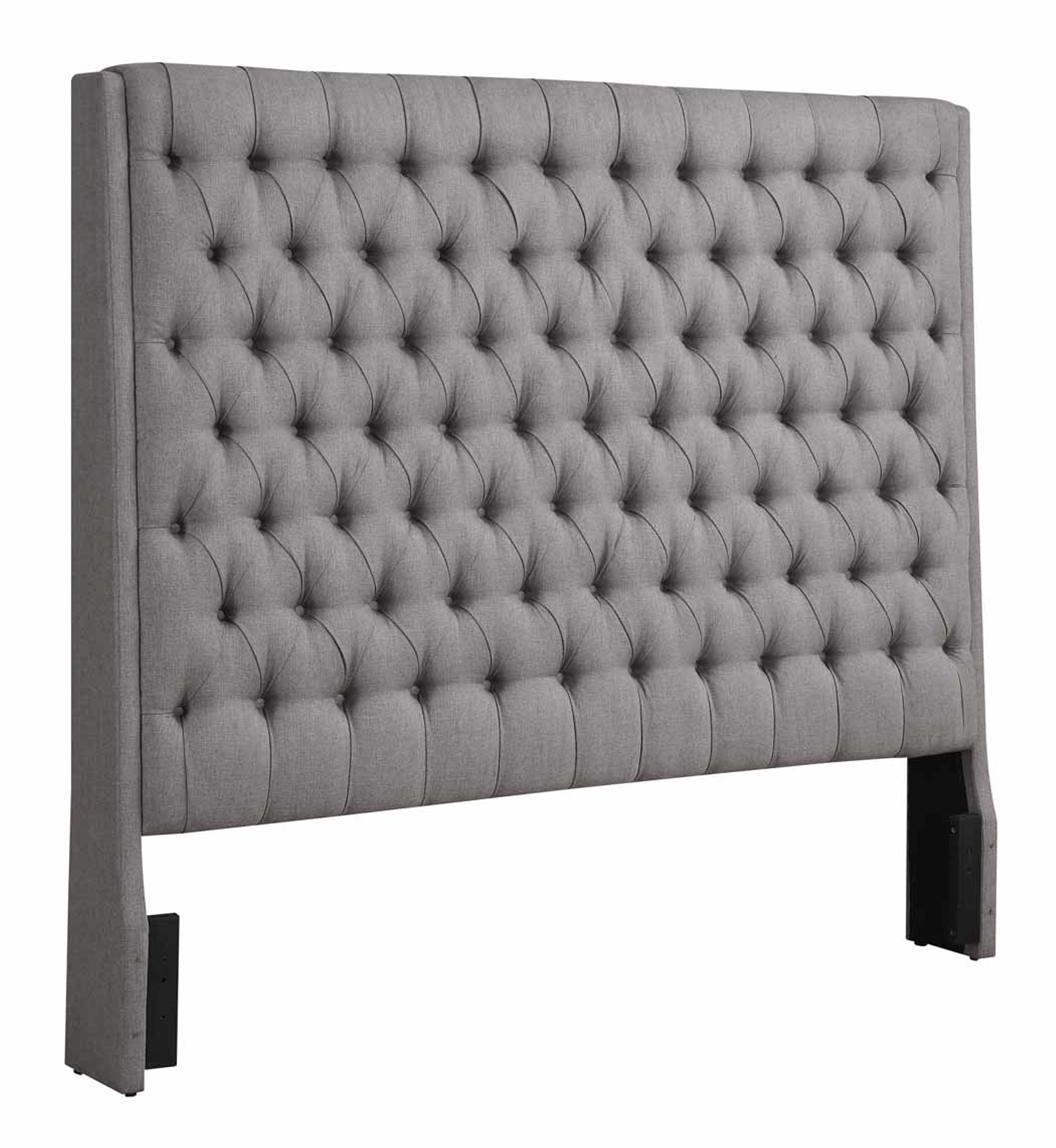 Camille Grey Upholstered King Headboard