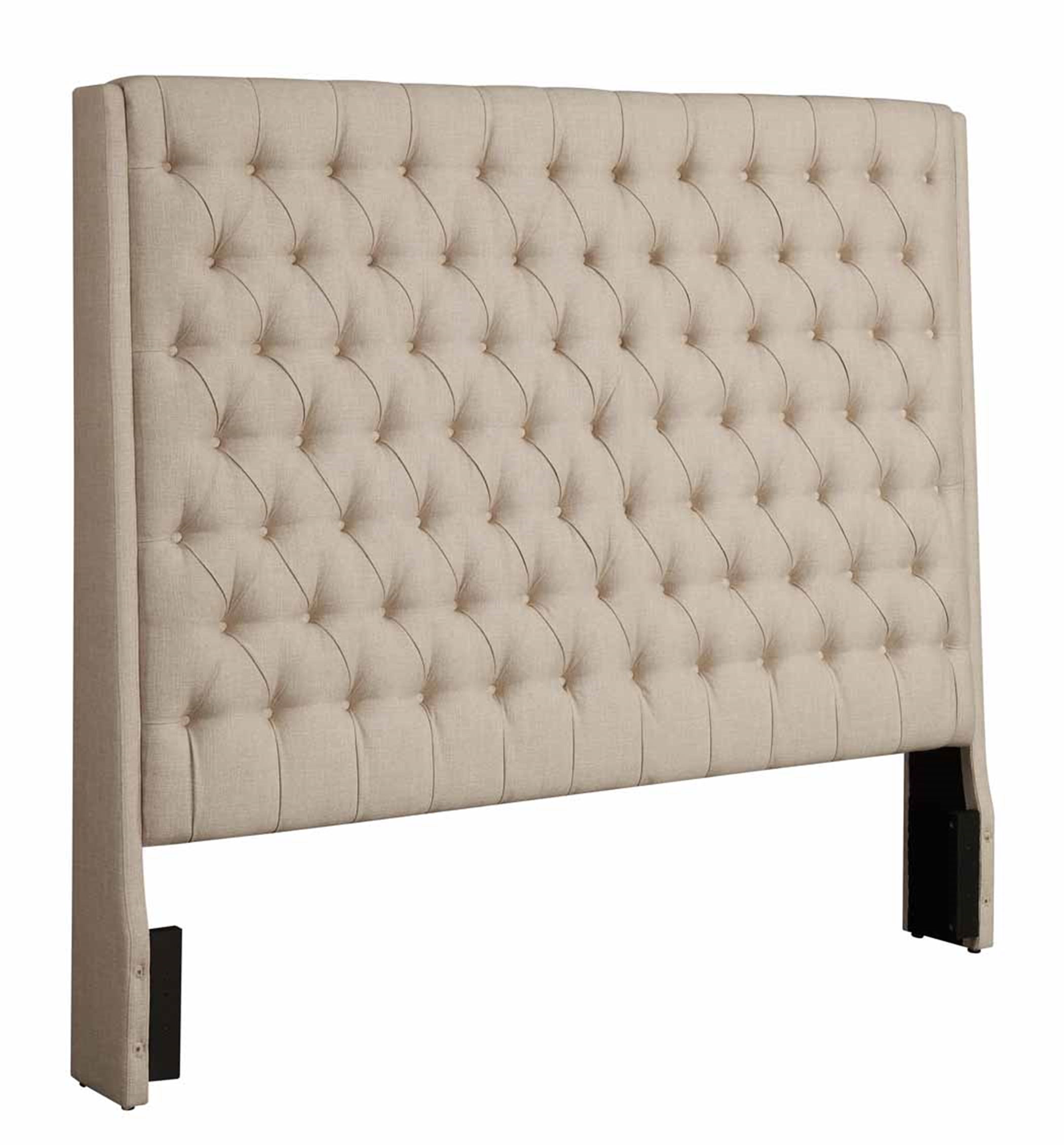 Camille Cream Upholstered King Headboard