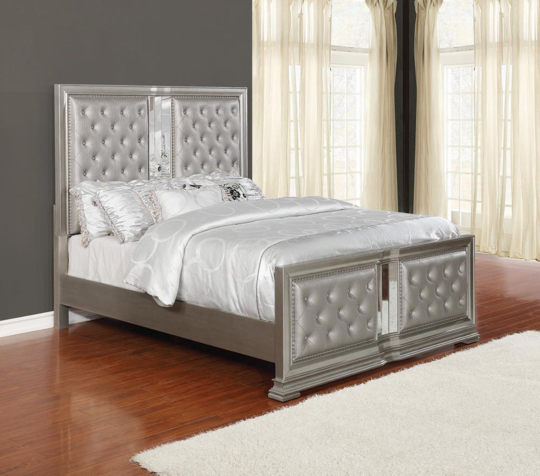 Adele Metallic Queen Bed