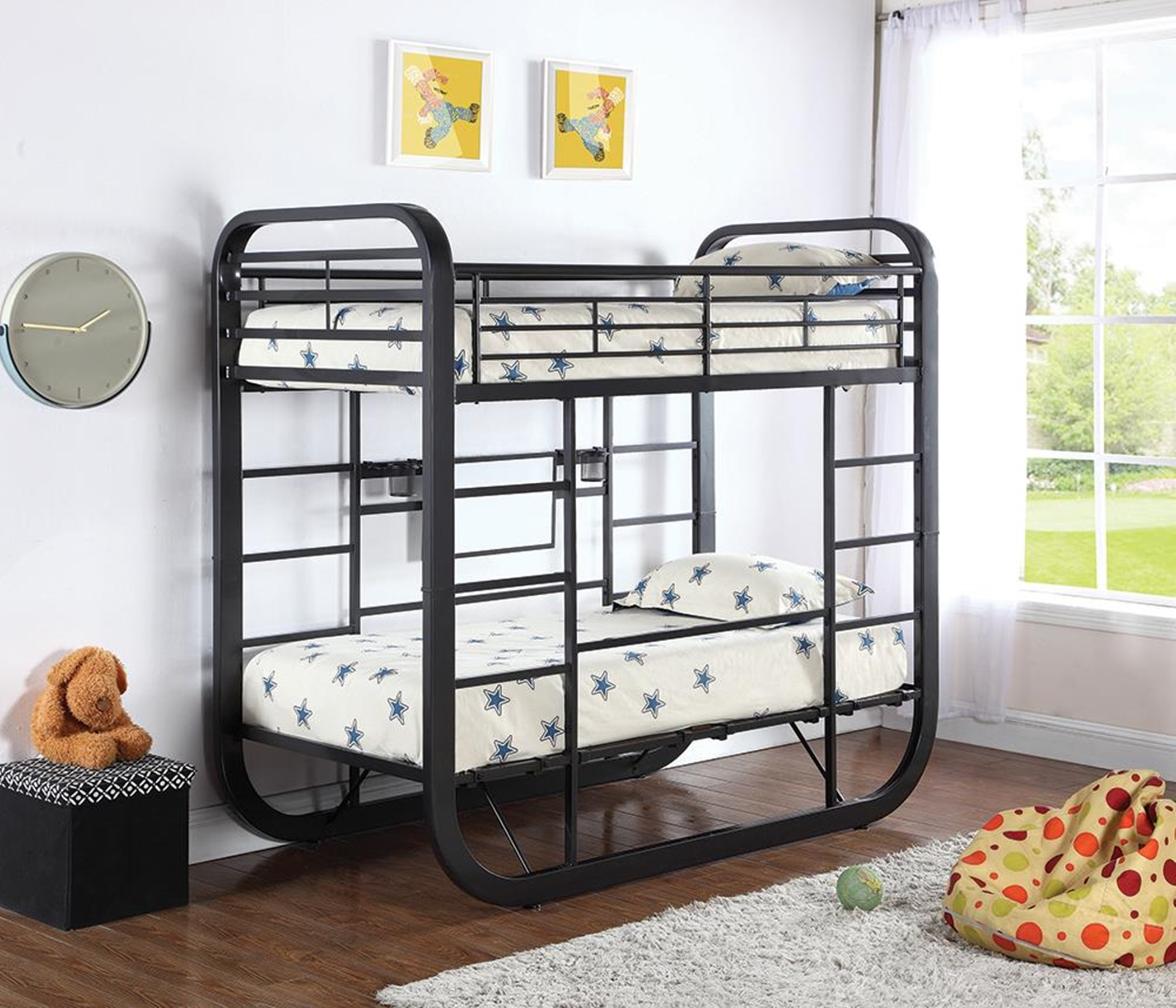 Archer Casual Chestnut Twin Workstation Bunk Bed