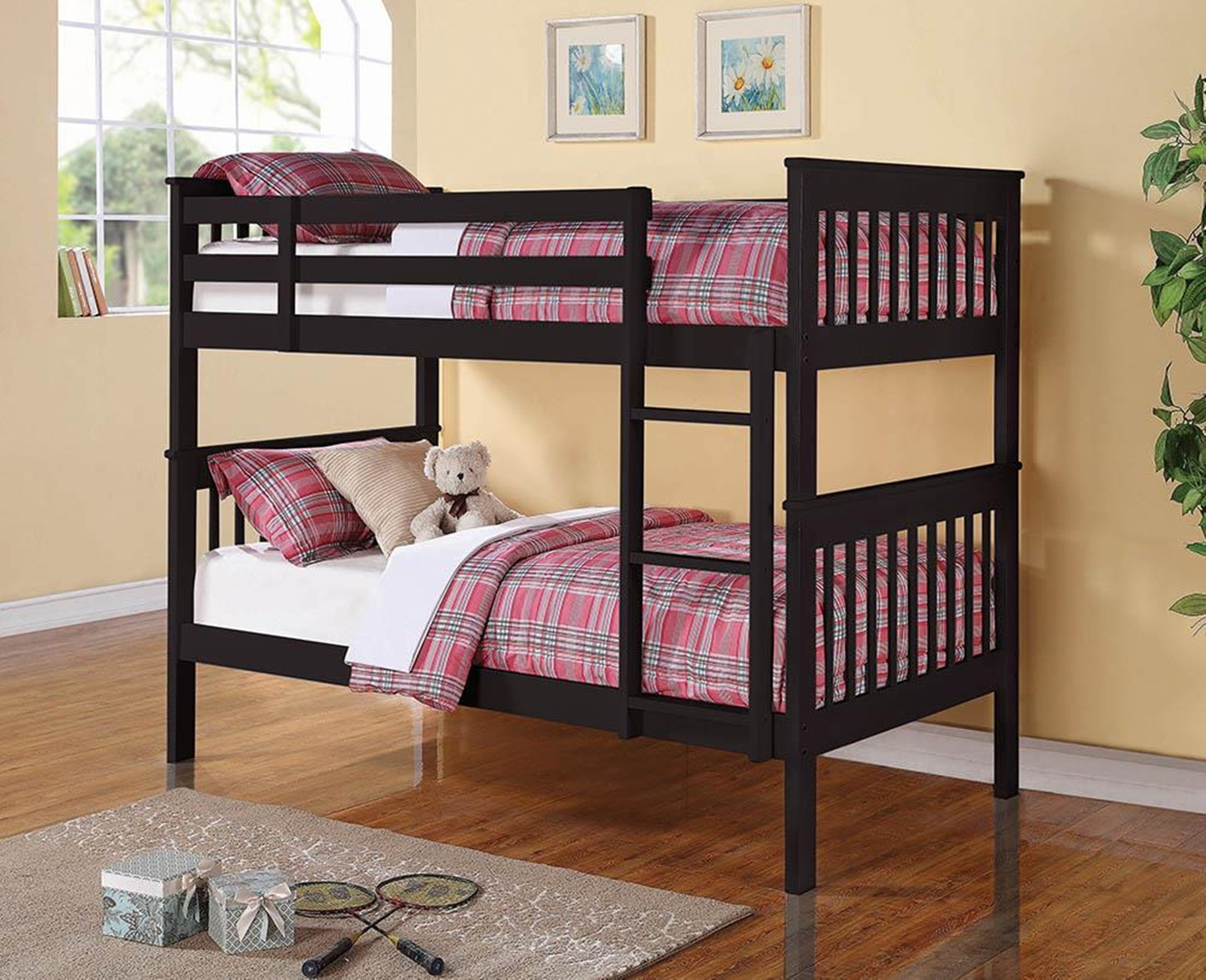 Chapman Black Twin-over-Twin Bunk Bed