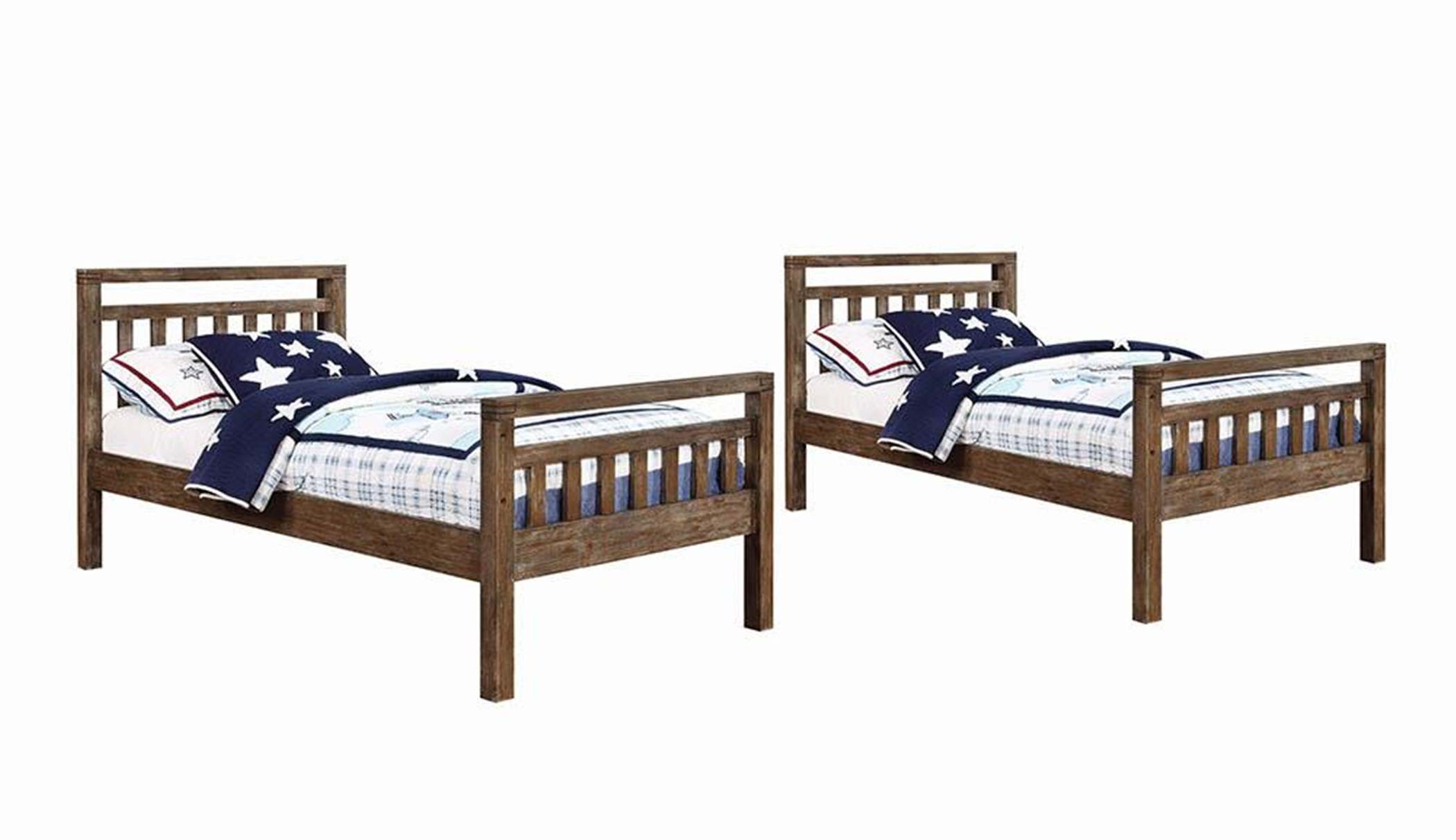 Malcolm Brushed Acacia Twin-over-Twin Bunk Bed
