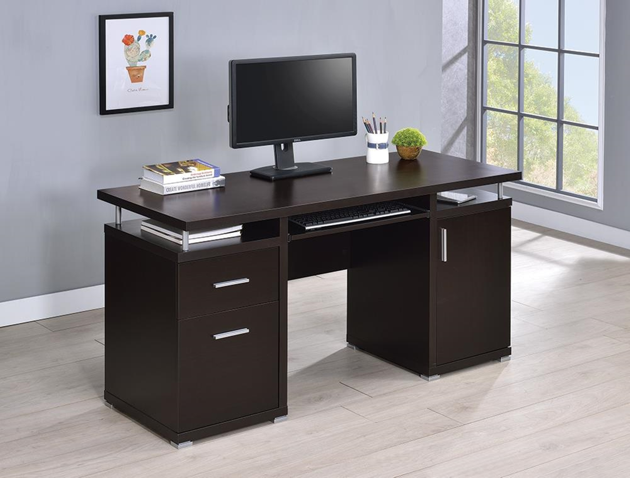 Contemporary Capp. Computer Desk