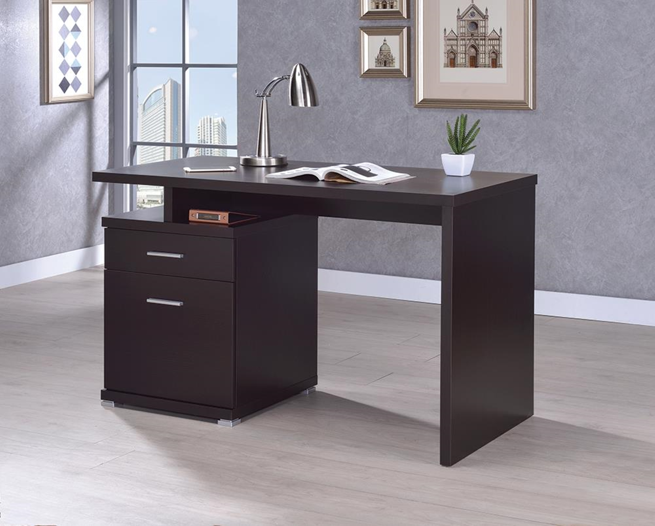 Office Desk with Drawer in Capp.