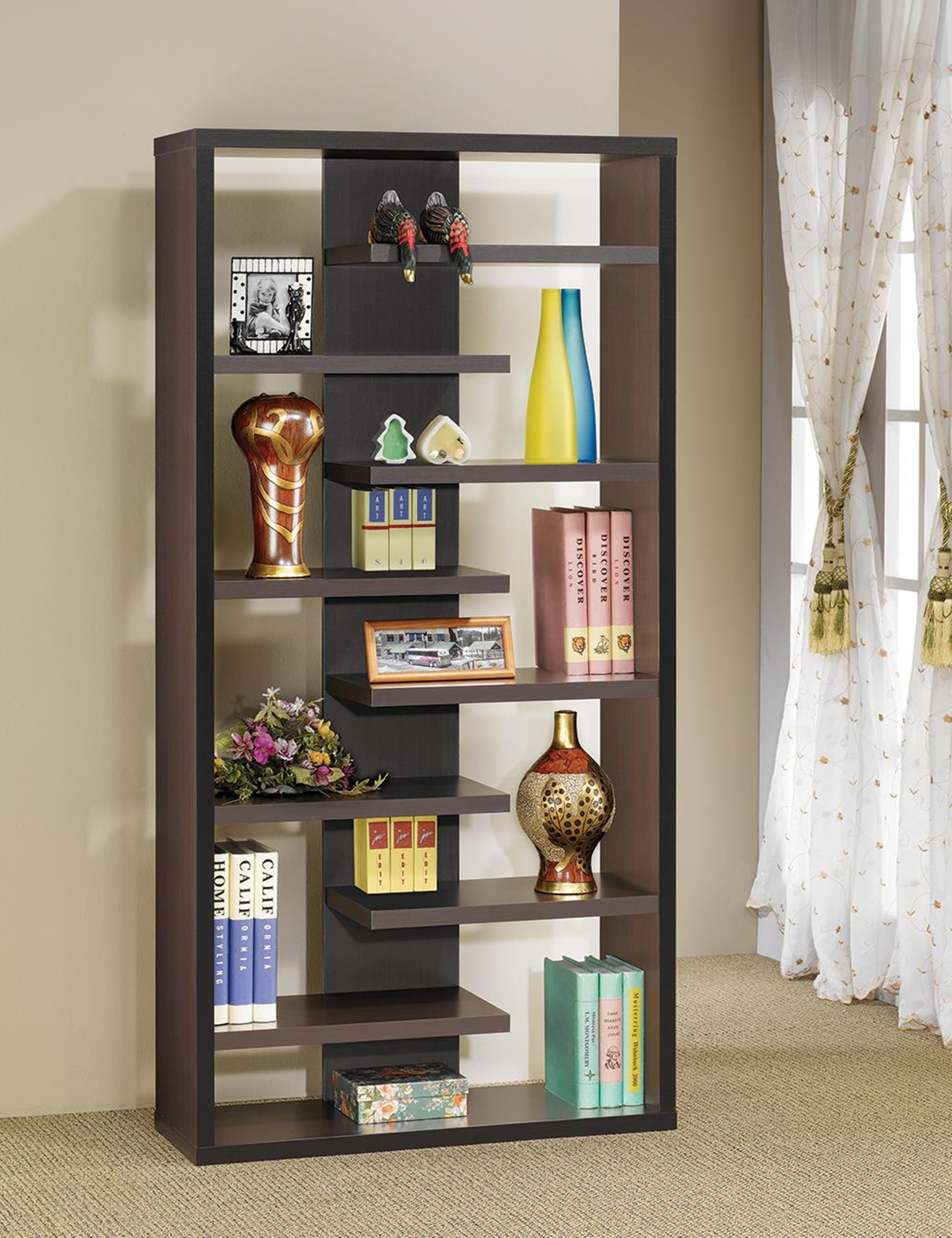 Casual Dark Capp. Bookcase