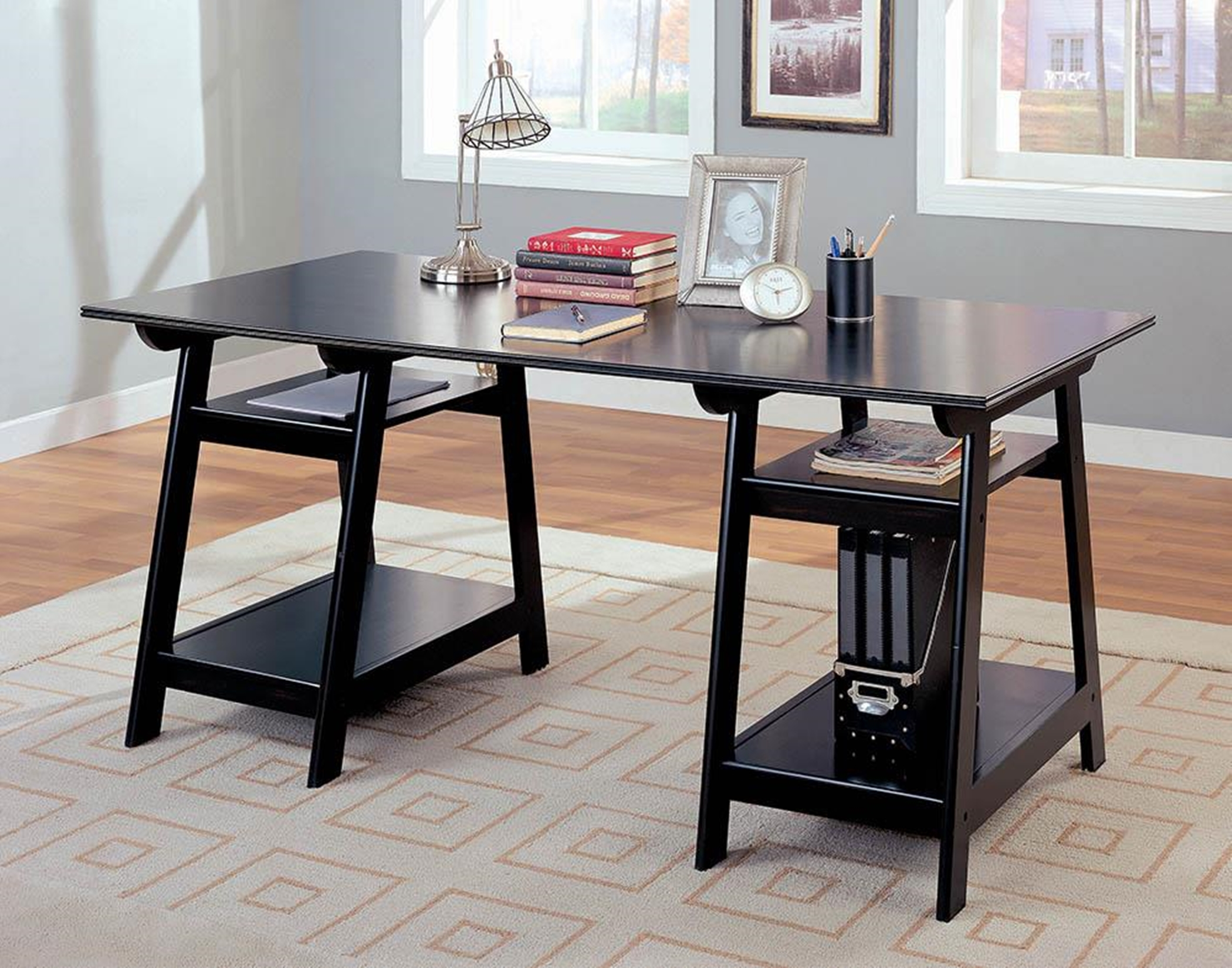 Casual Black Writing Desk