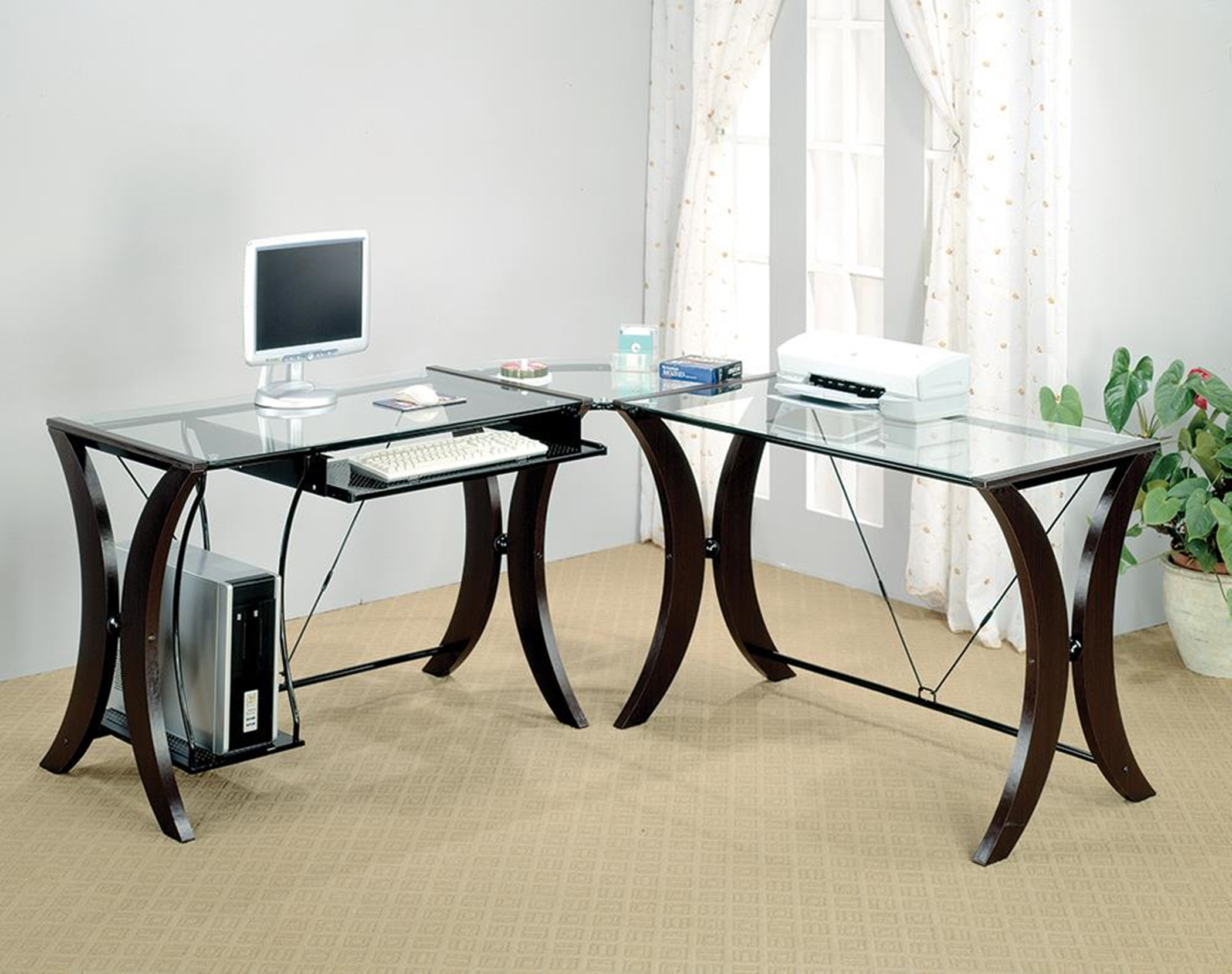 Contemporary Capp. Desk Set