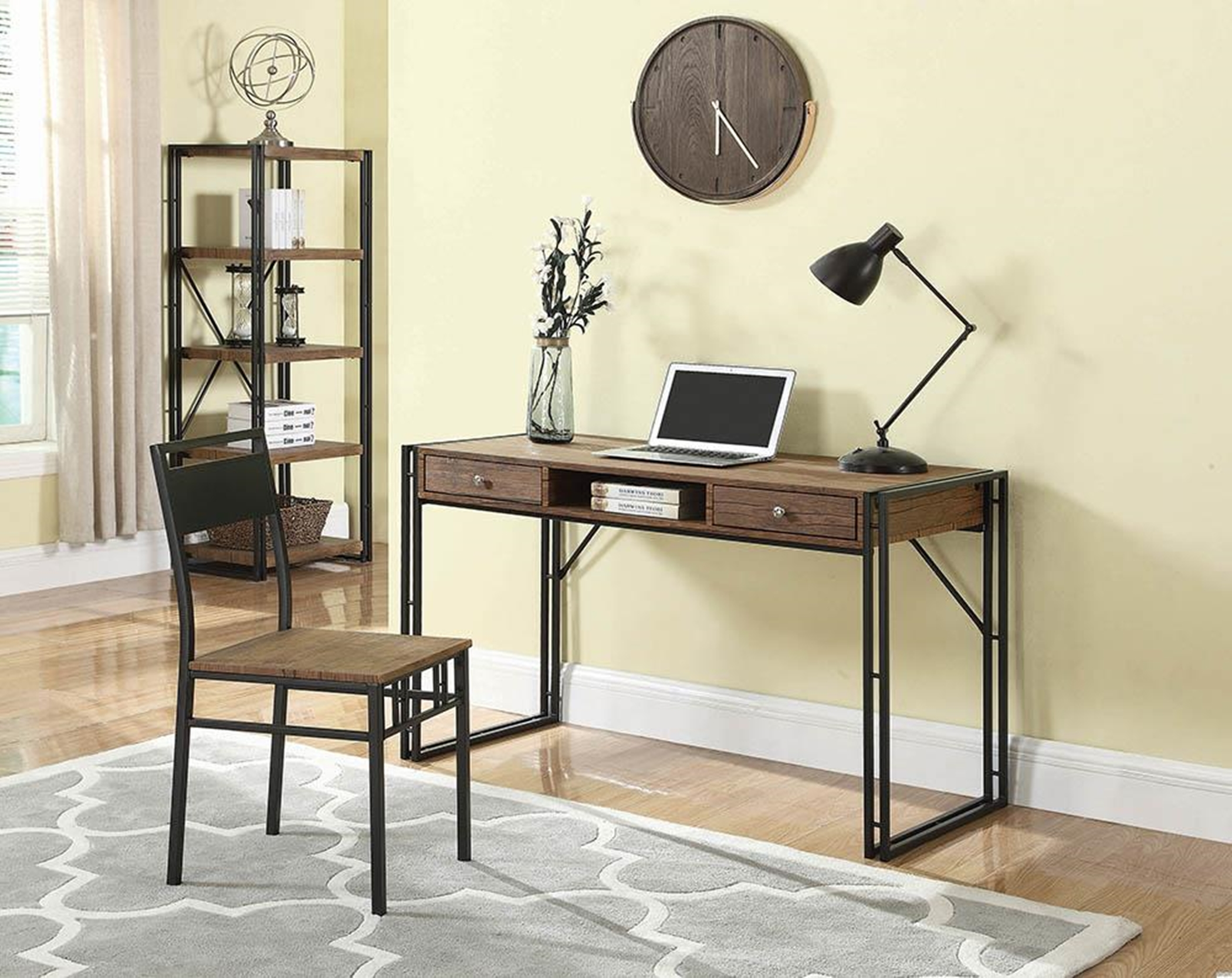 Rustic Weathered Chestnut Desk Set