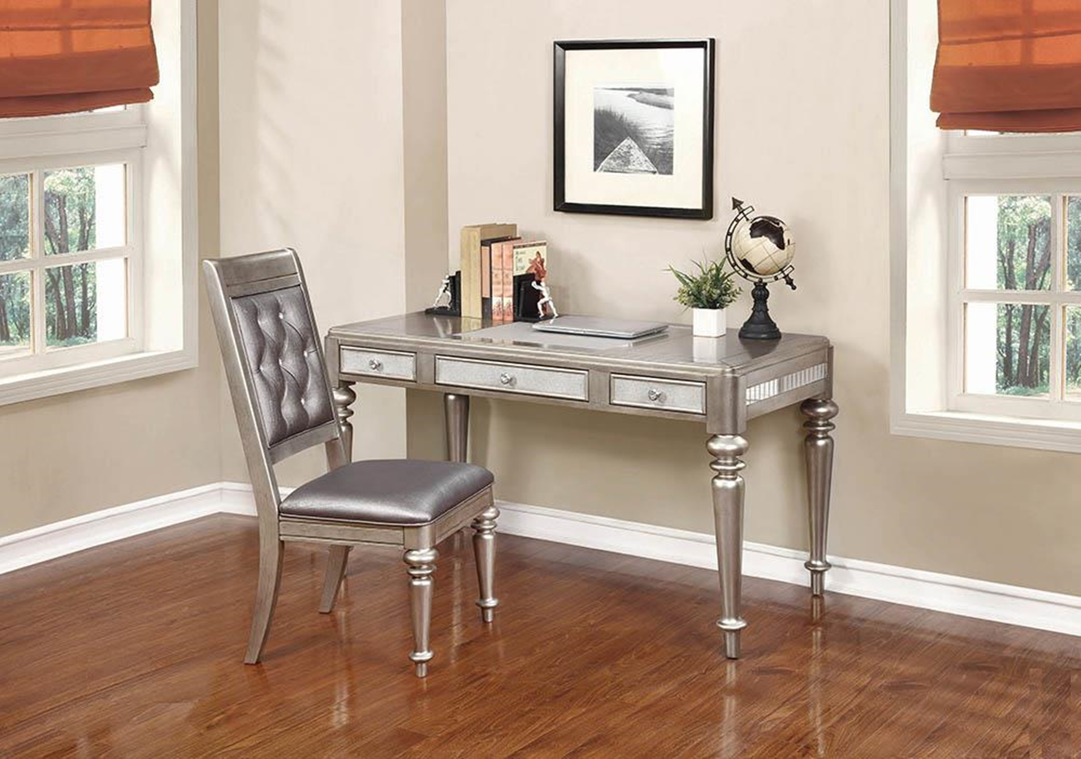 Bling Game Hollywood Glam Platinum Desk