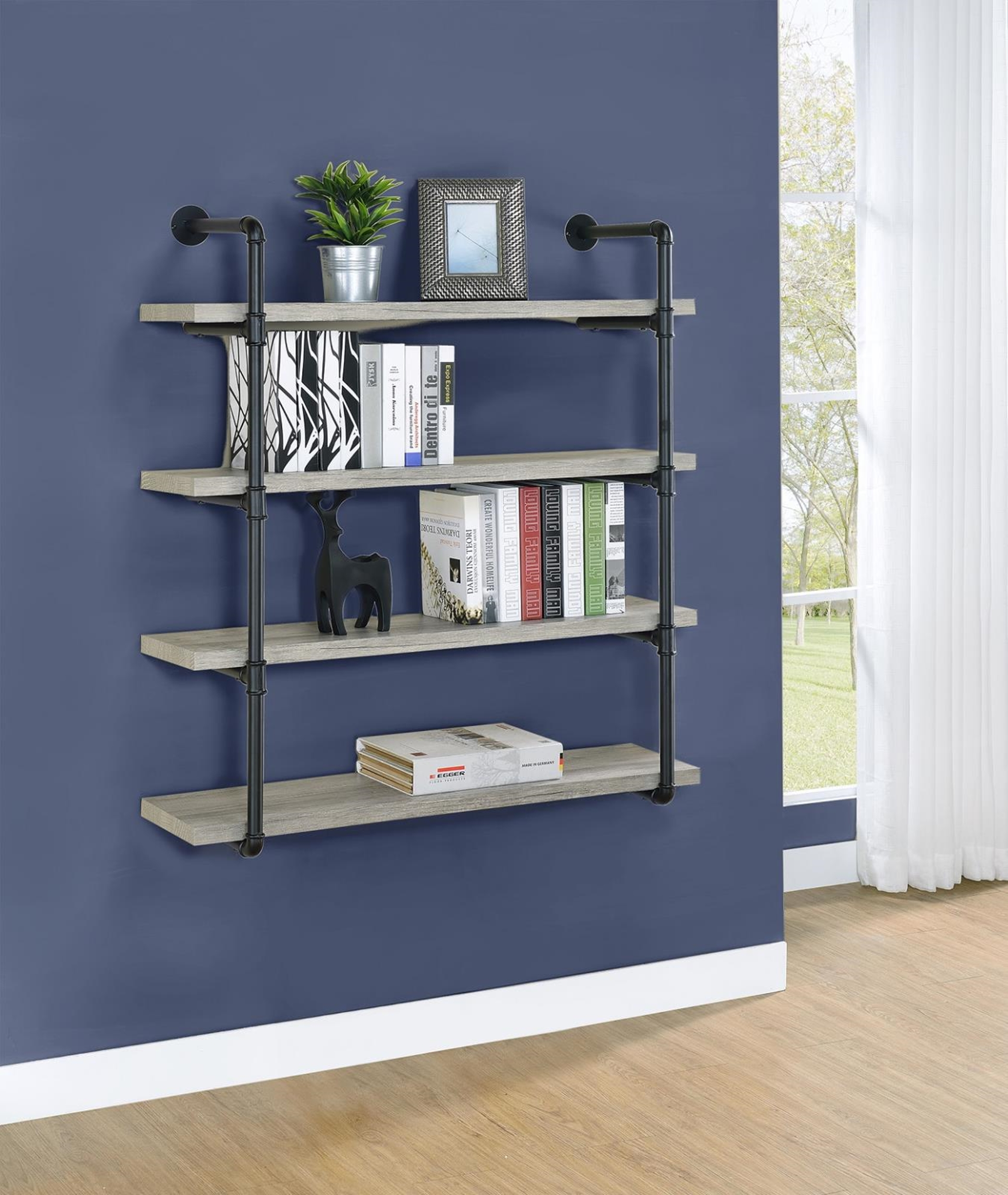 804427 - 40in.w Wall Shelf