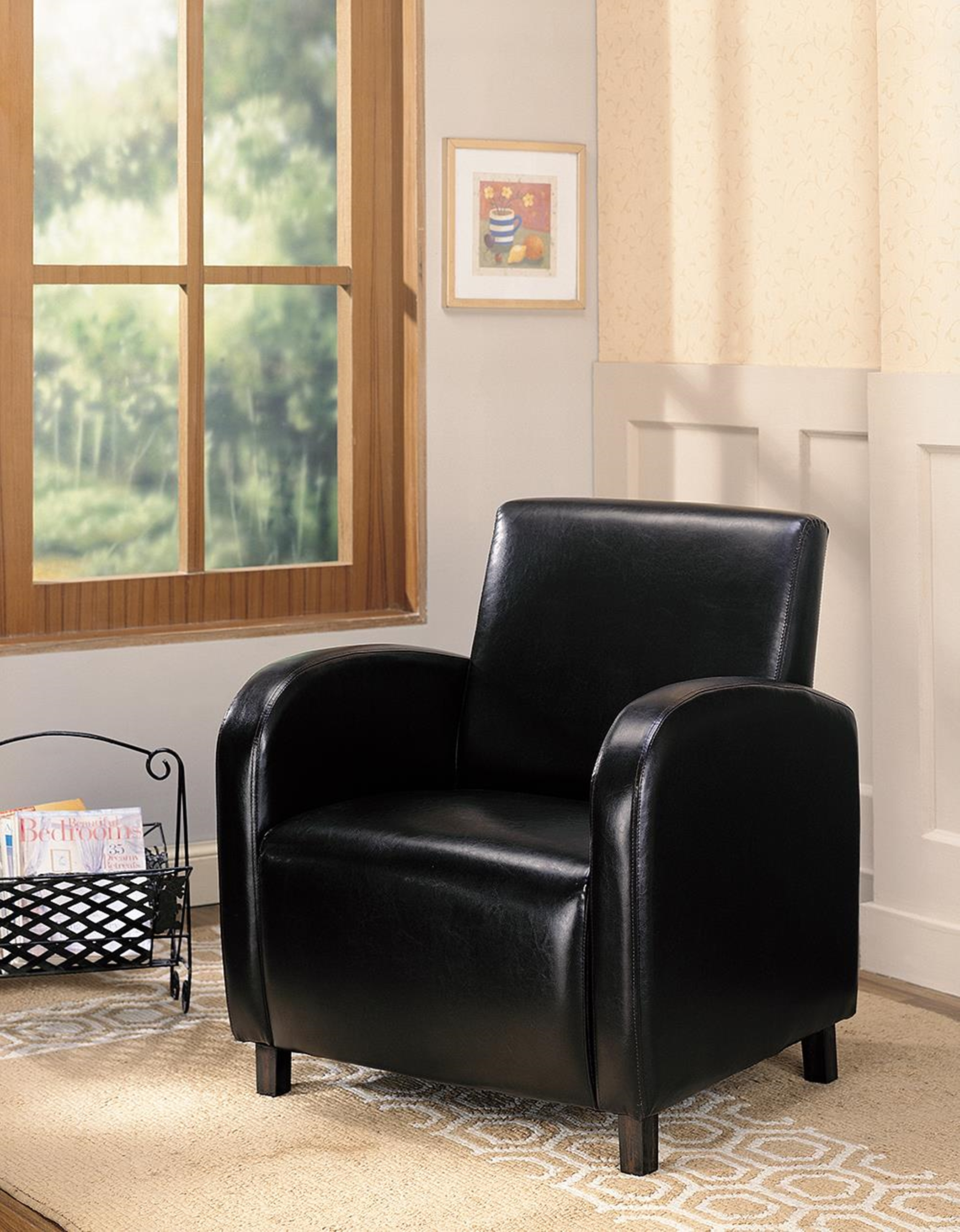 Contemporary Black Accent Chair