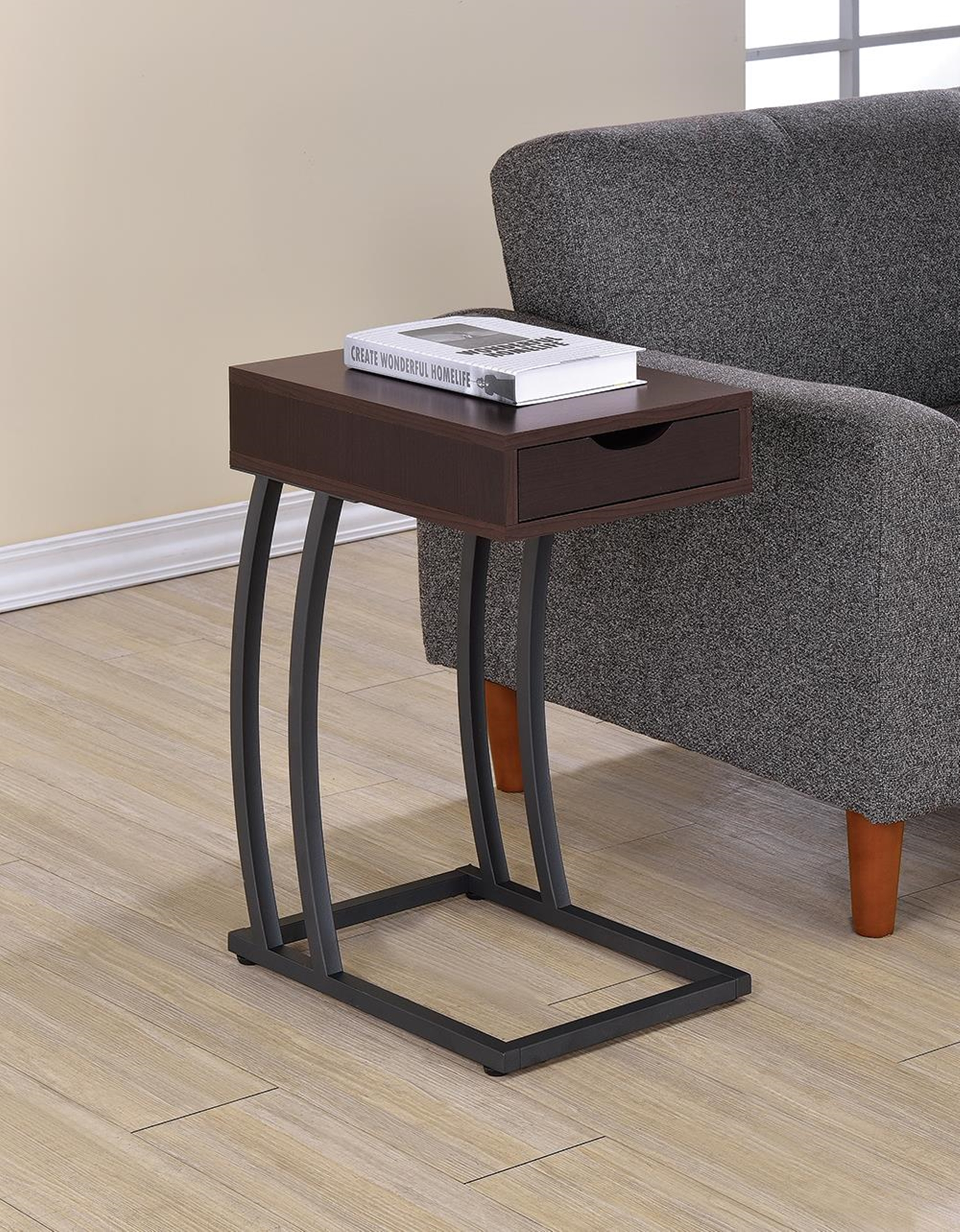 Industrial Capp. Accent Table