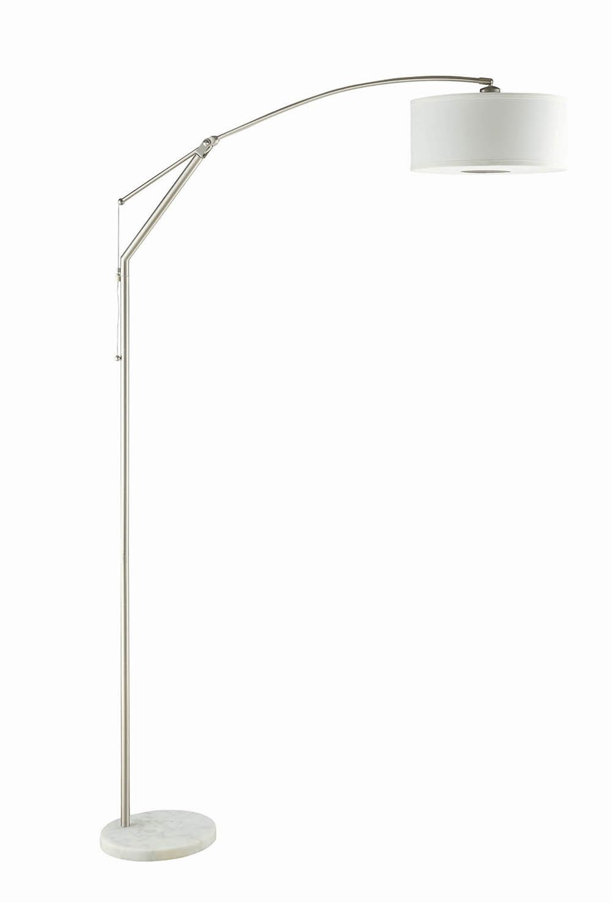 White and Chrome Floor Lamp
