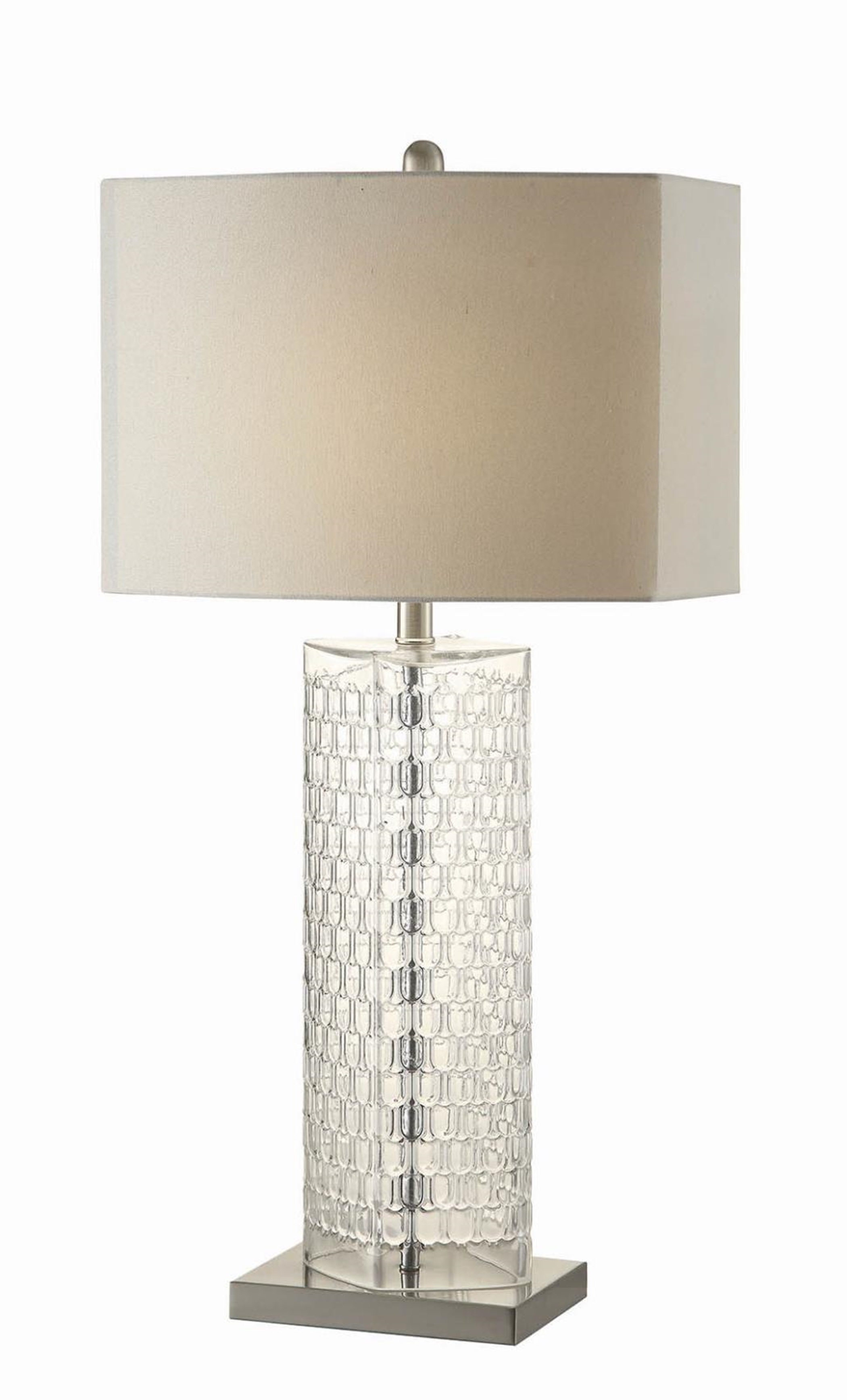 Contemporary Clear Table Lamp
