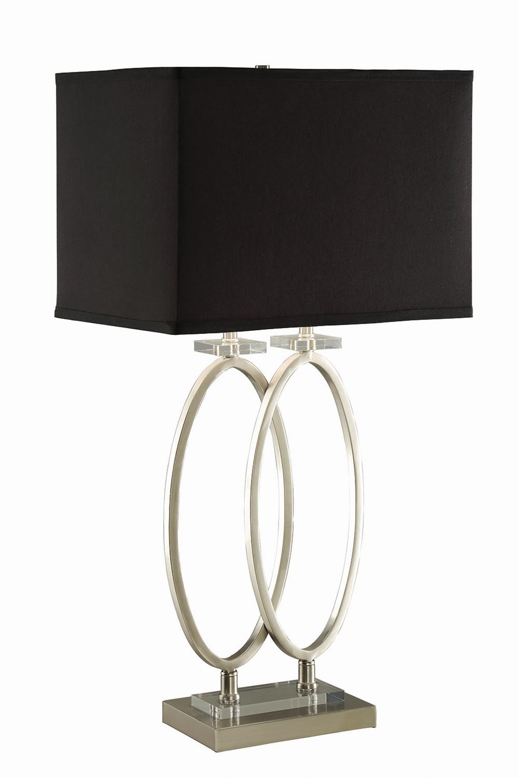 Transitional Nickel and Black Accent Lamp