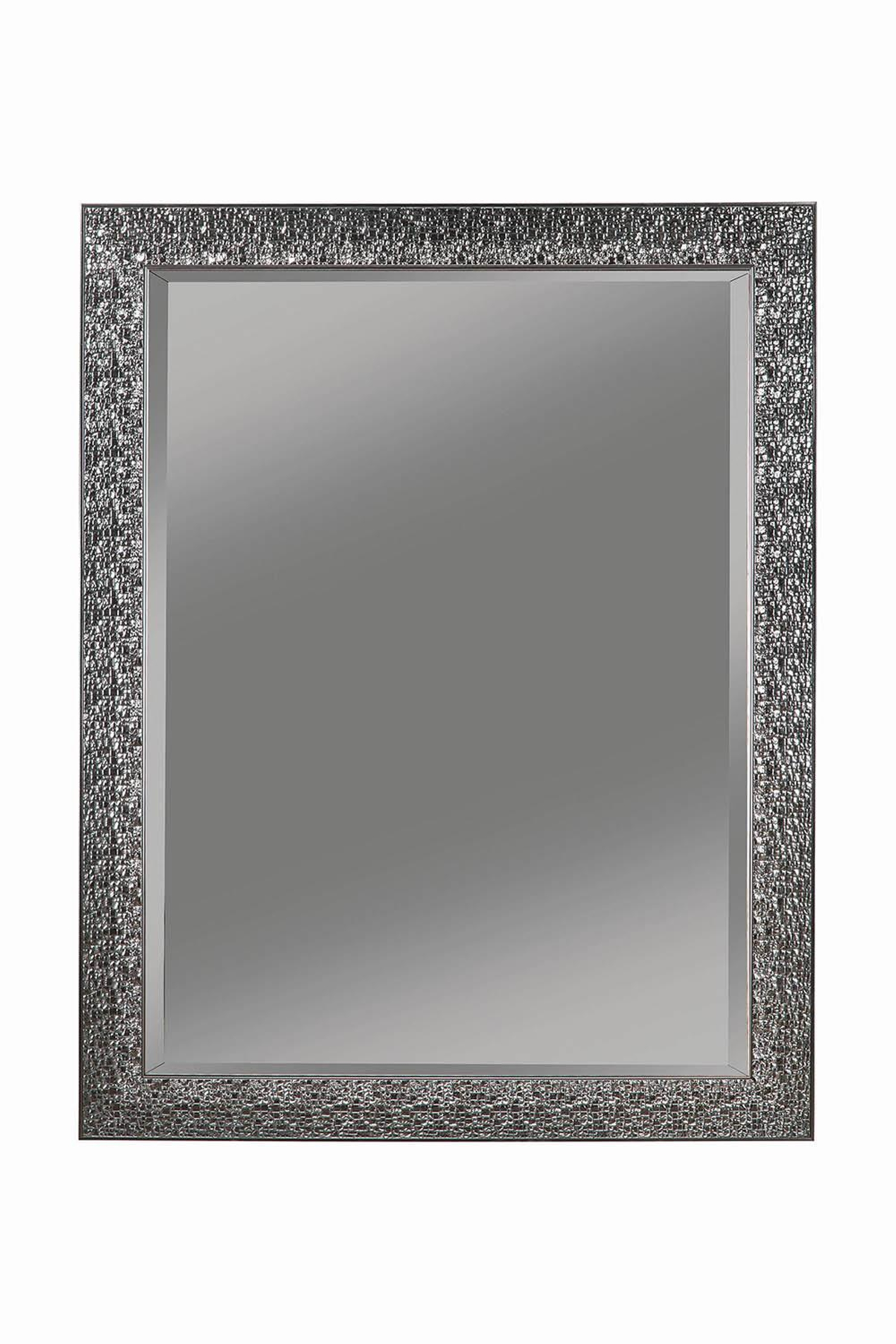 Transitional Black Mosaic Square Mirror