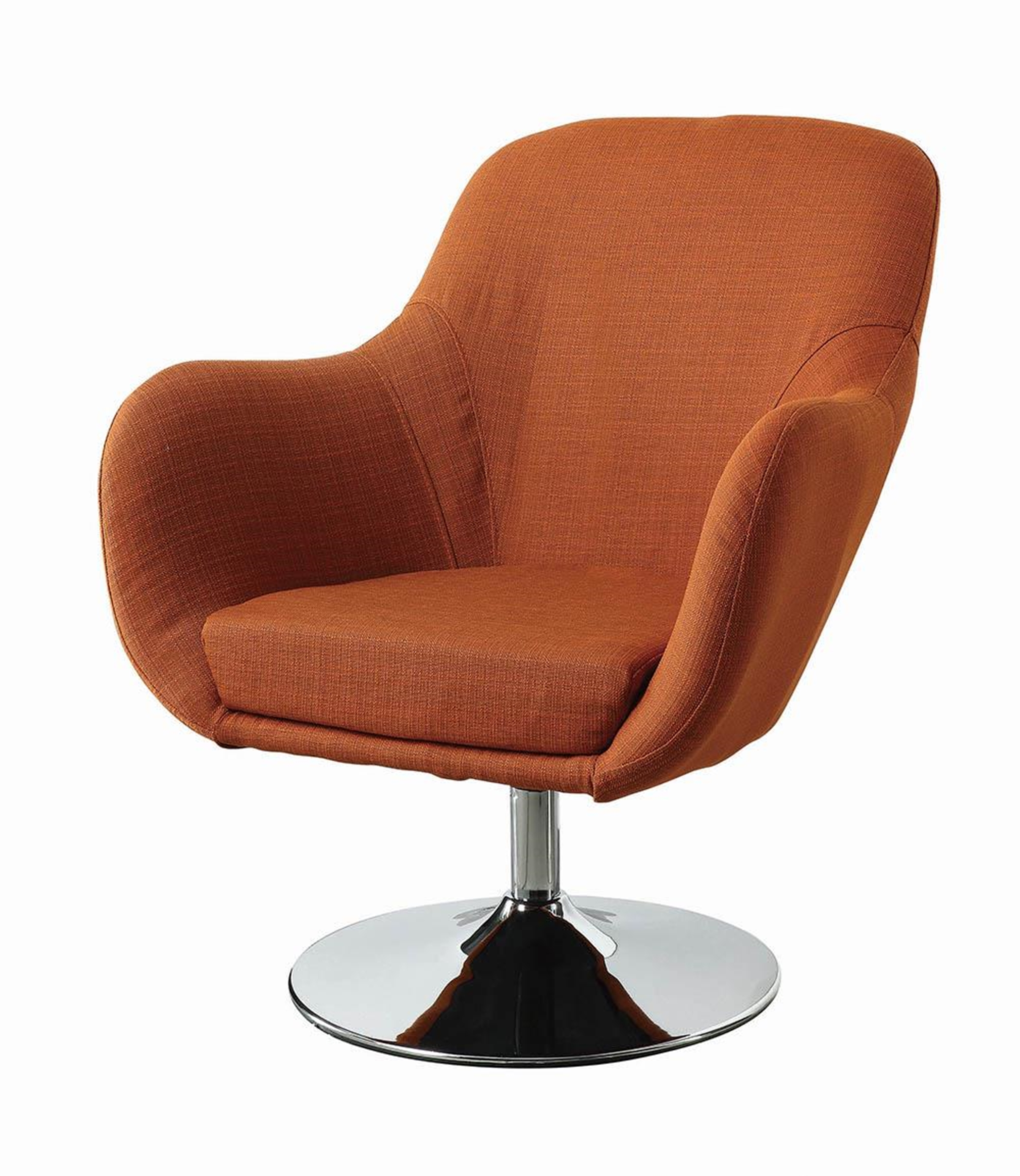 Contemporary Orange Accent Chair