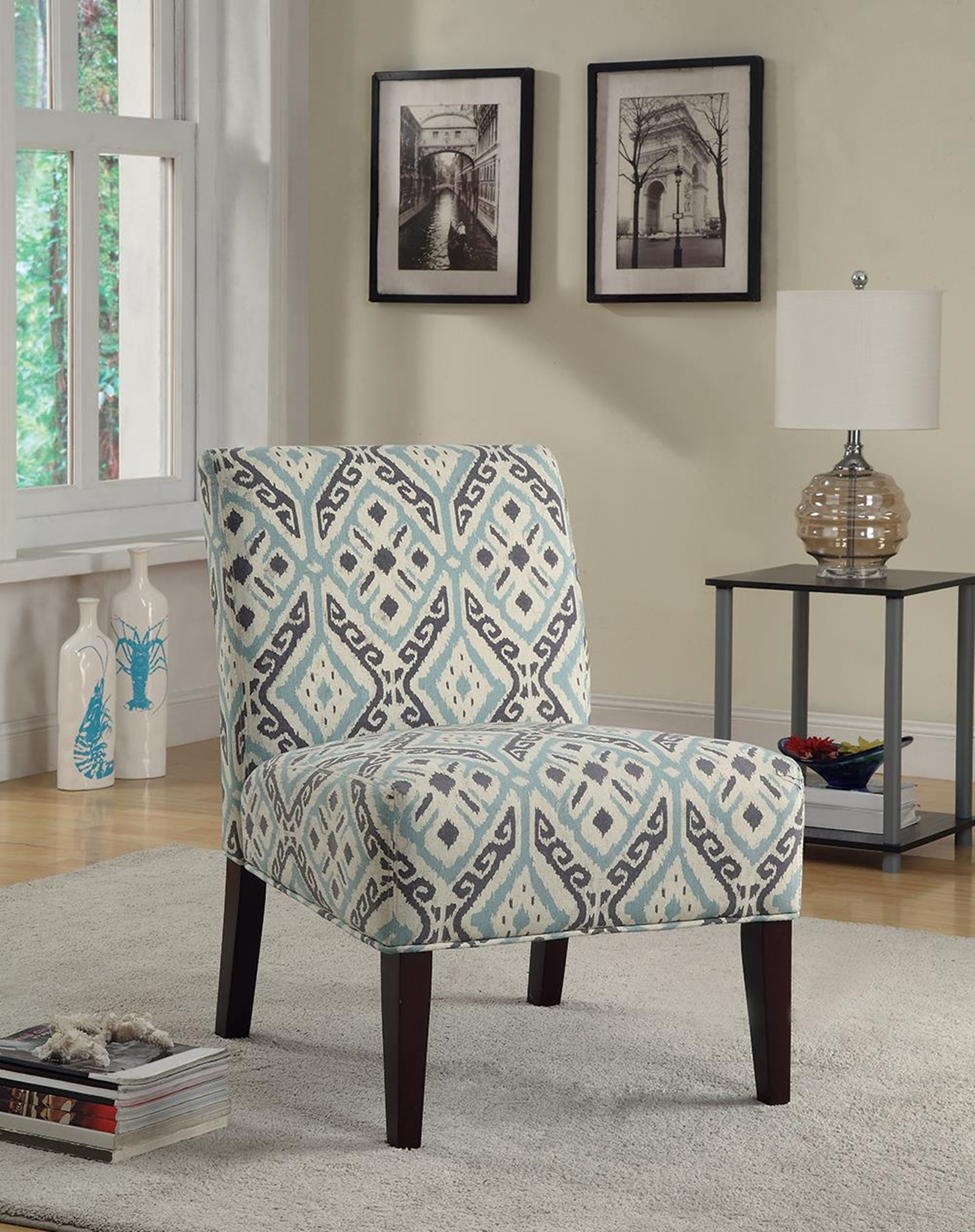 Casual Multi-Color Accent Chair