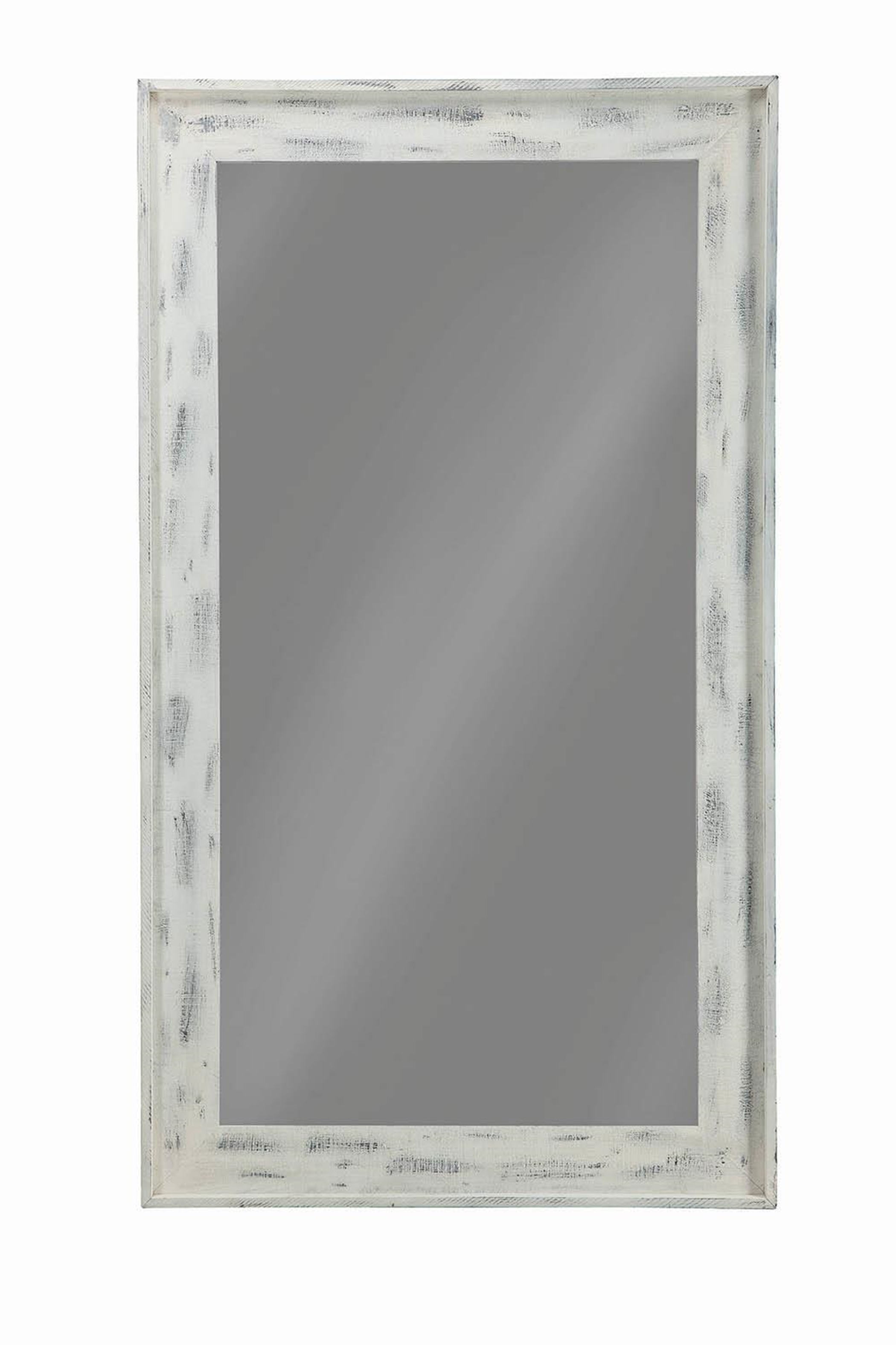 Distressed White Accent Mirror